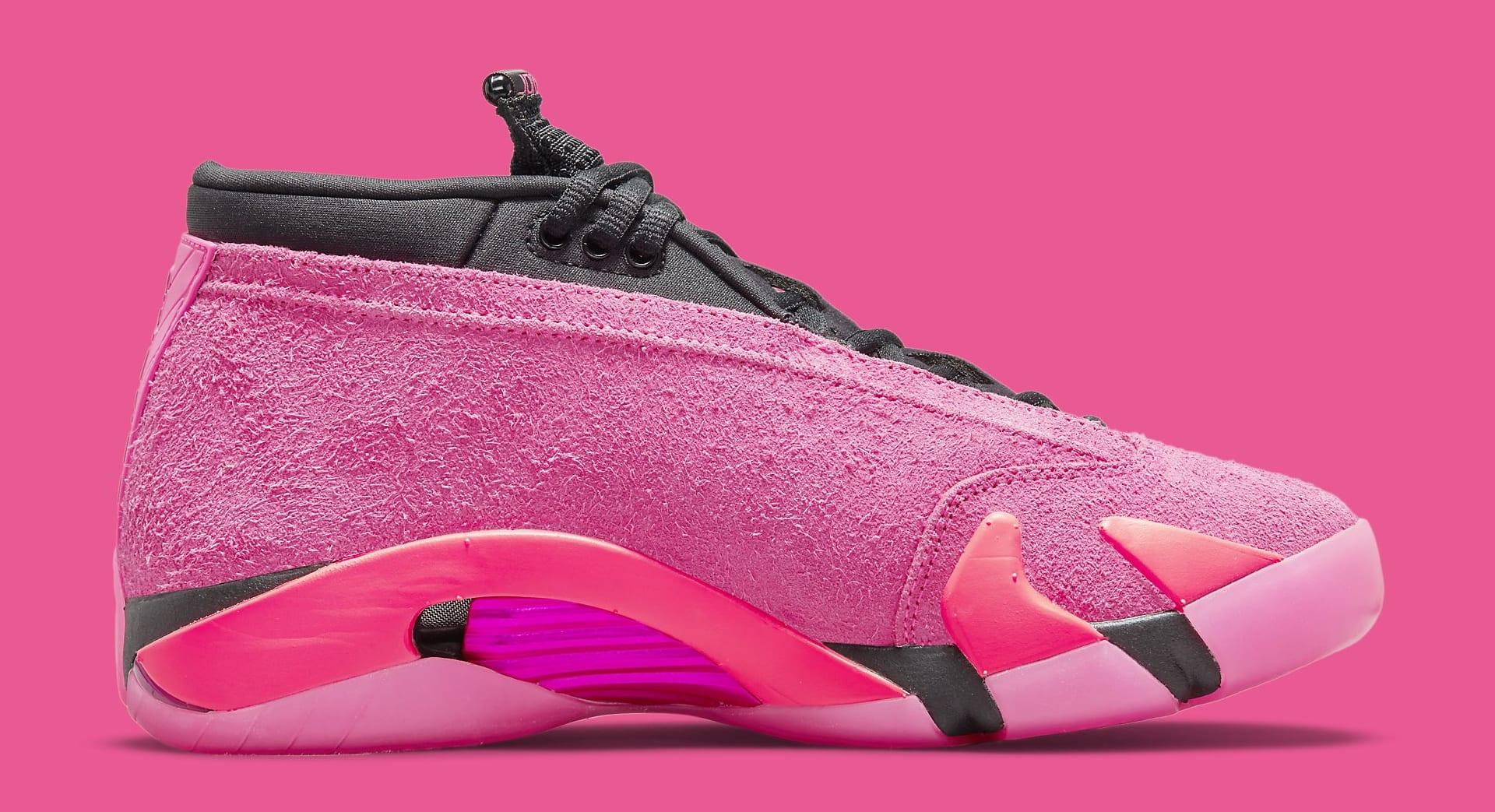 Air Jordan 14 Women's 'Shocking Pink' DH4121 600 Medial