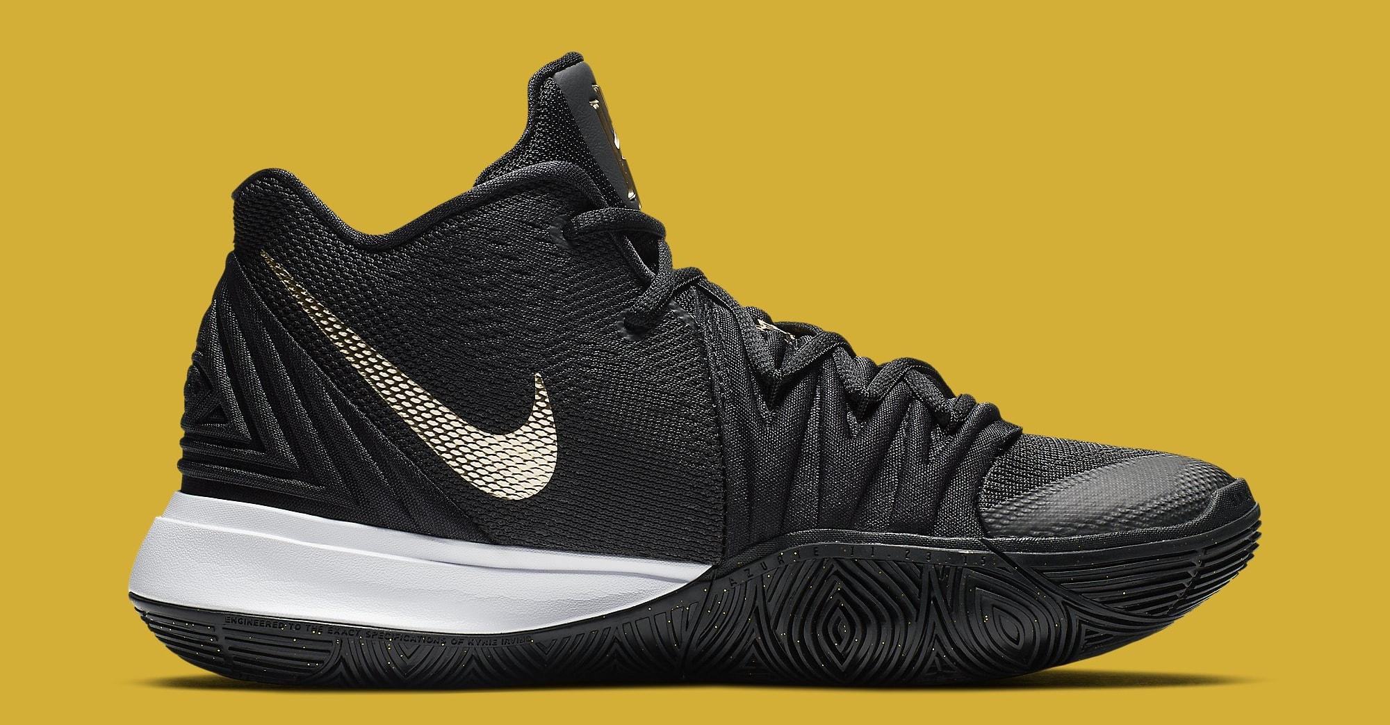Nike Kyrie 5 'Black/Gold' AO2918-007 Medial