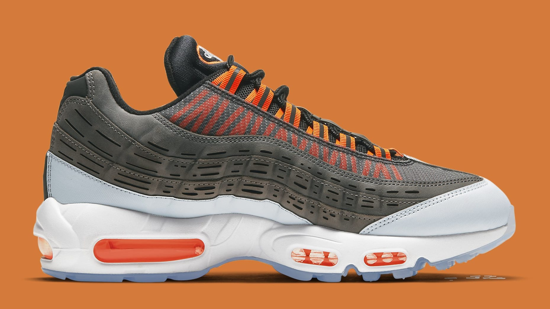 Kim Jones x Nike Air Max 95 Orange Release Date DD1871-001 Medial
