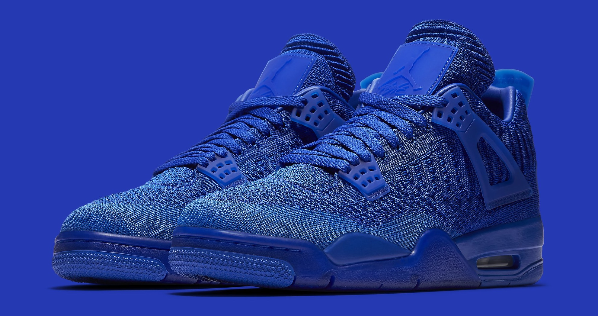Air Jordan 4 Flyknit 'Game Royal' AQ3559-400 Pair
