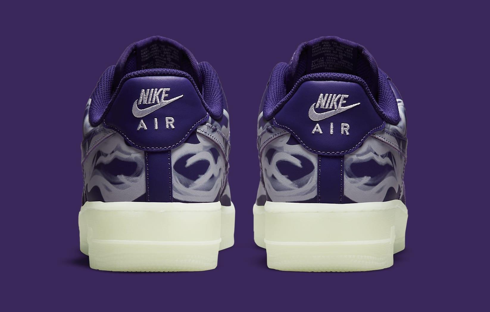 Nike Air Force 1 Low 'Purple Skeleton' CU8067-500 Heel