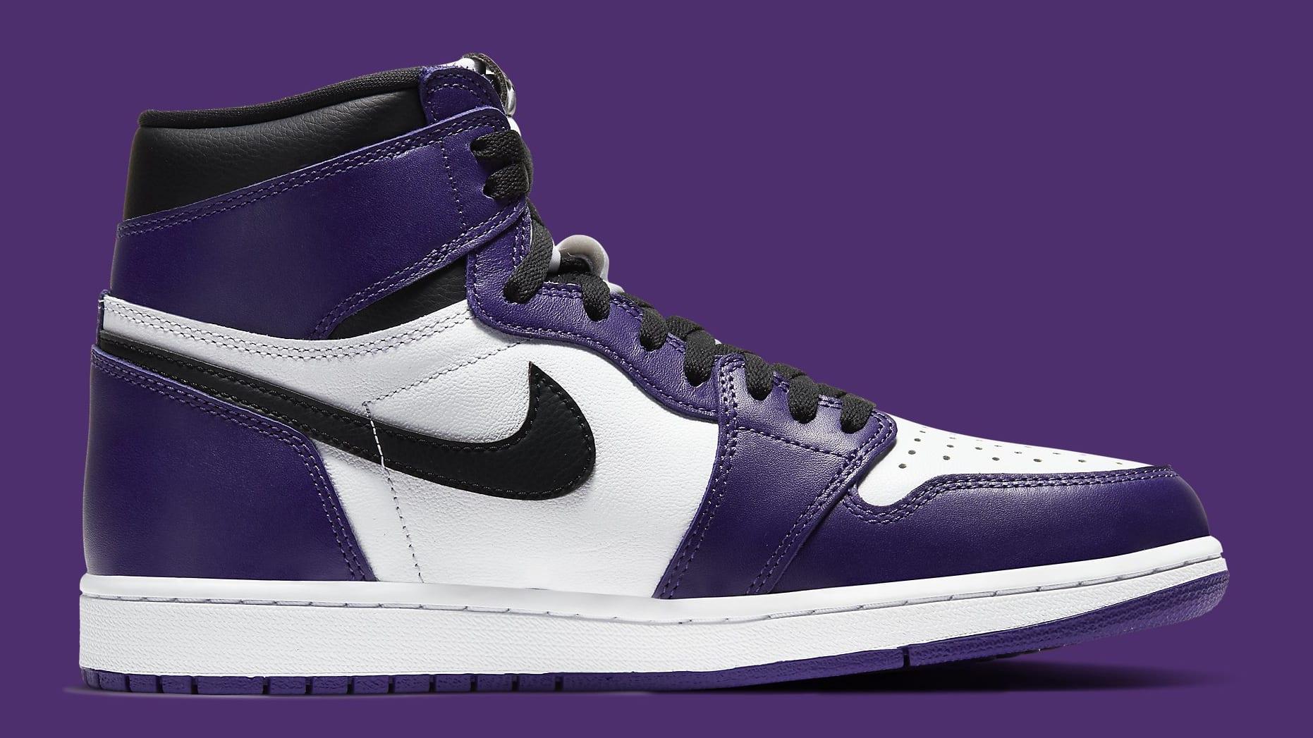 Air Jordan 1 Court Purple Release Date 555088-500 Medial