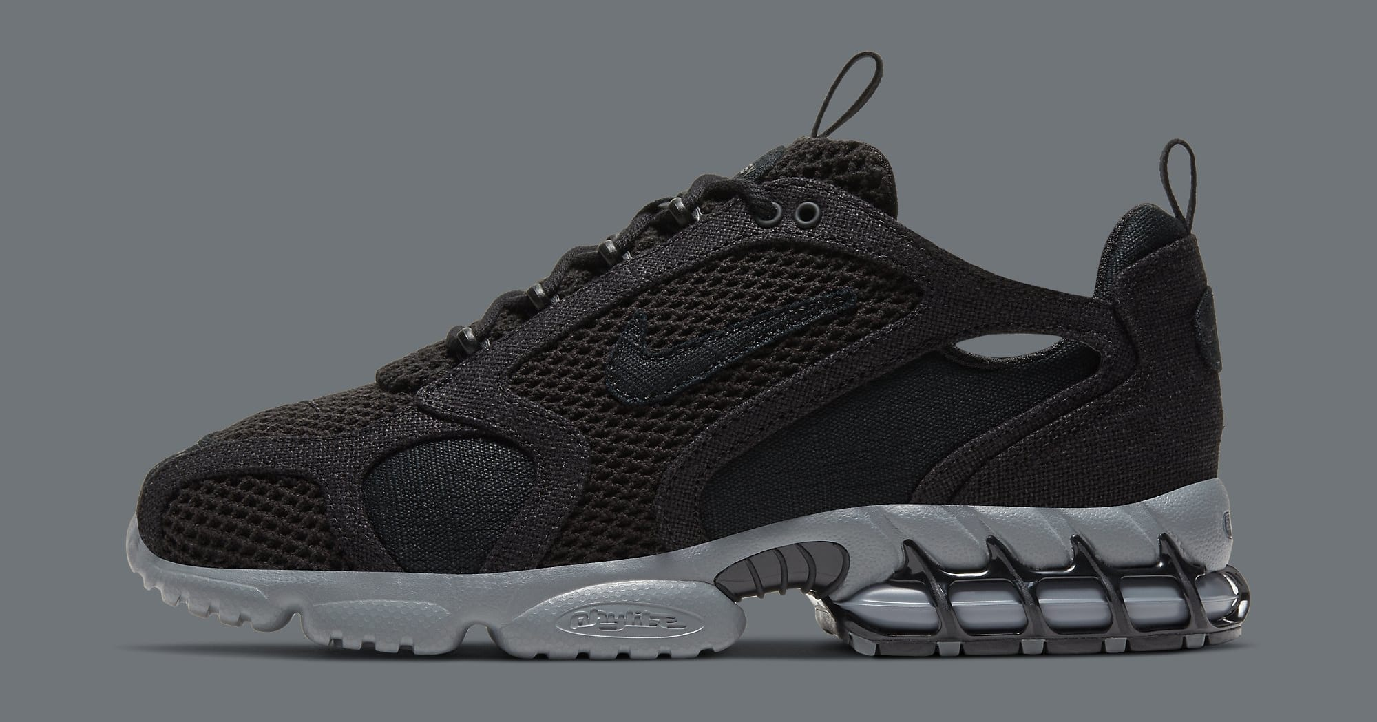 Stussy x Nike Air Zoom Spiridon Cage 2 CQ5486-001 Lateral
