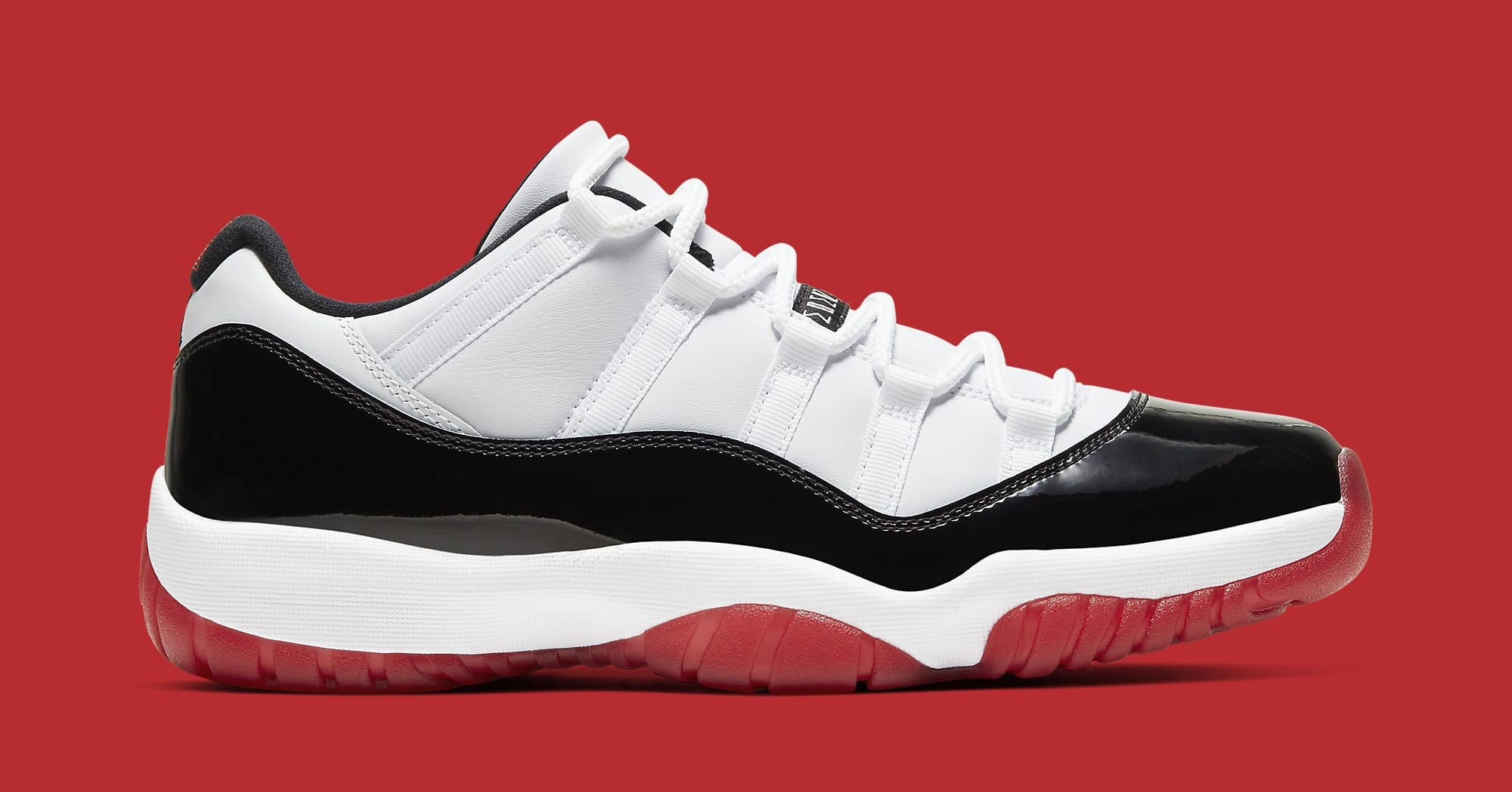 Air Jordan 11 Low White University Red Black True Red Av2187 160 Sole Collector
