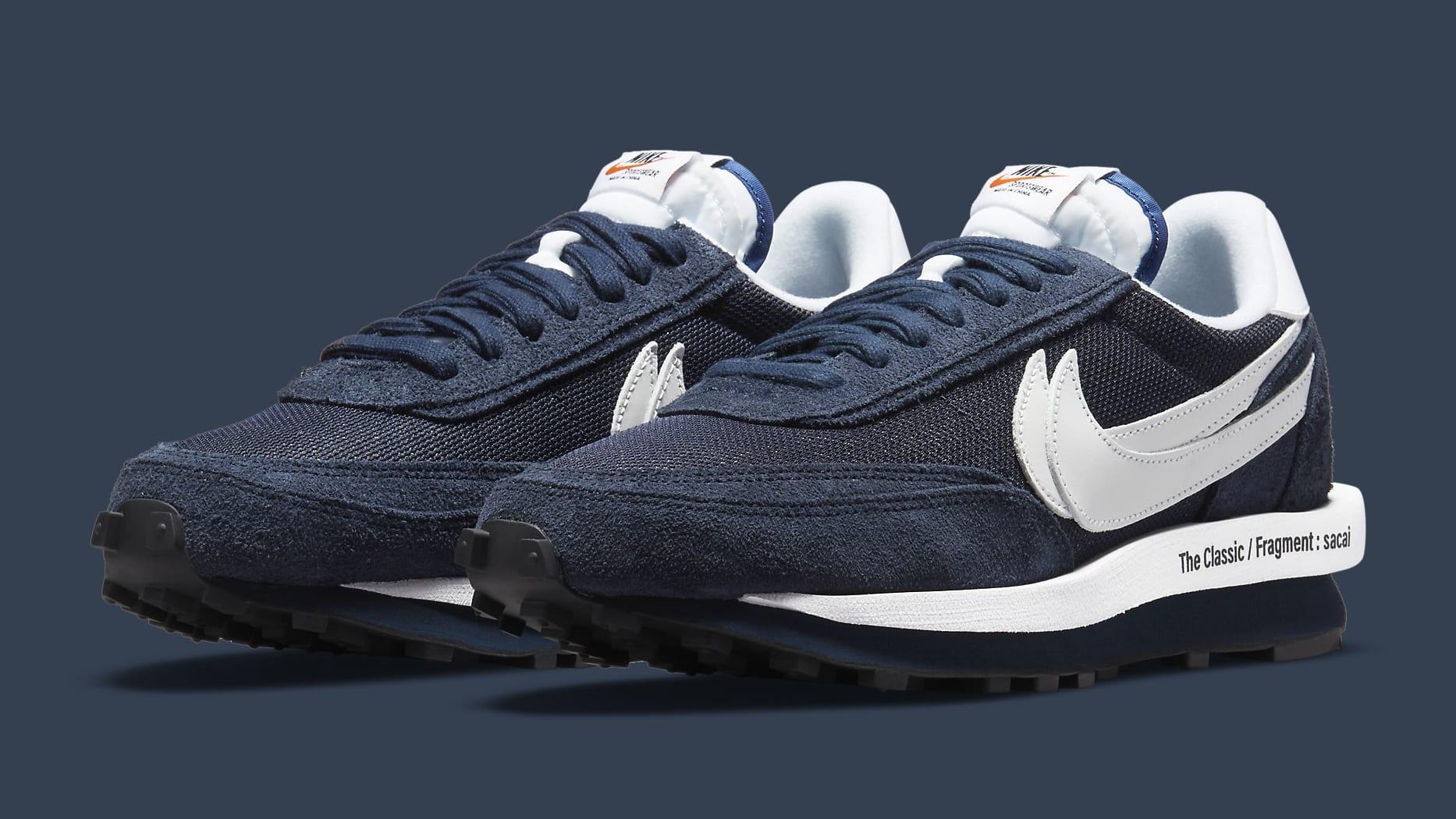 Fragment x Sacai x Nike LDWaffle 'Blackened Blue' DH2684-400 Pair