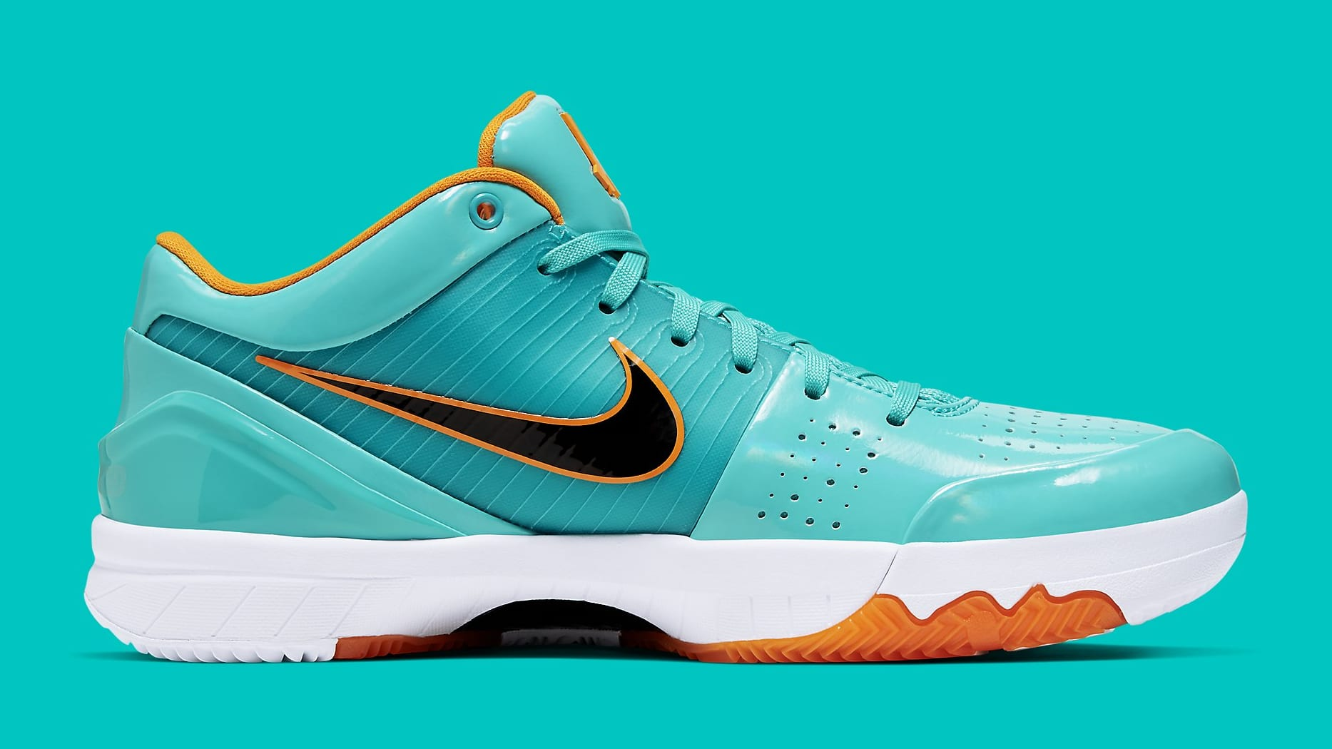 UNDFTD x Nike Kobe 4 Protro Teal Release Date CQ38869-300 Medial