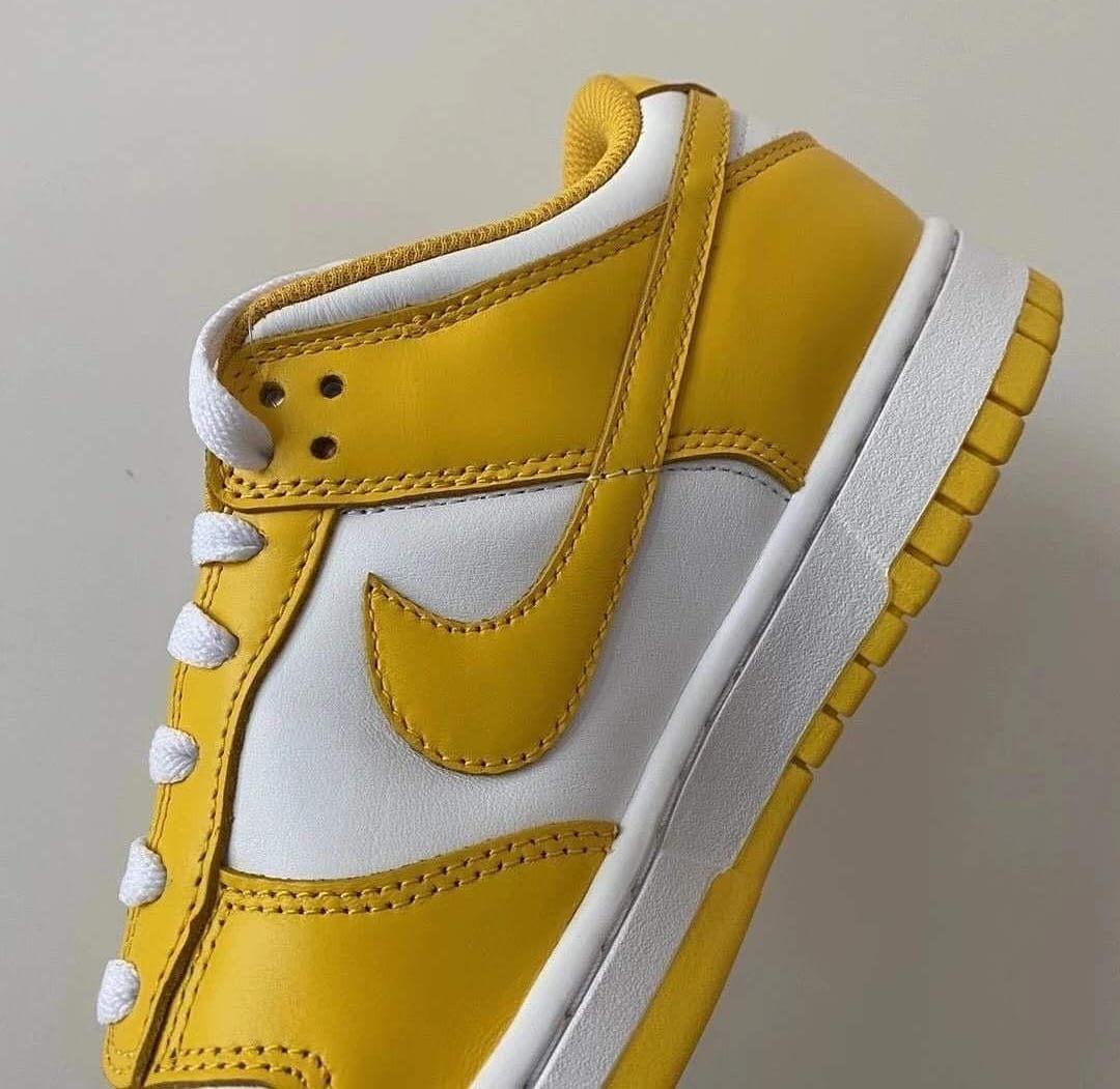 Nike Dunk Low 'White/Yellow' Medial