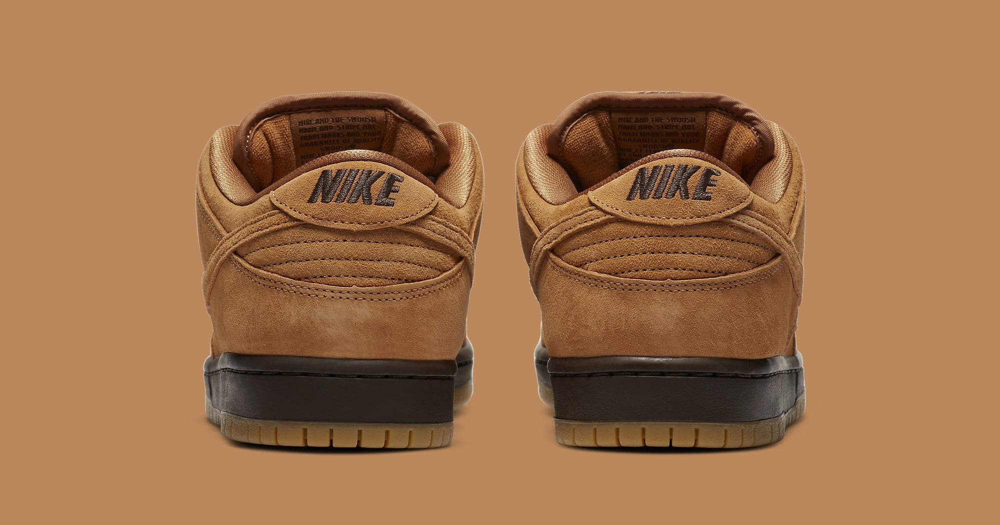 Nike SB Dunk Low 'Wheat Mocha' BQ6817-204 Heel