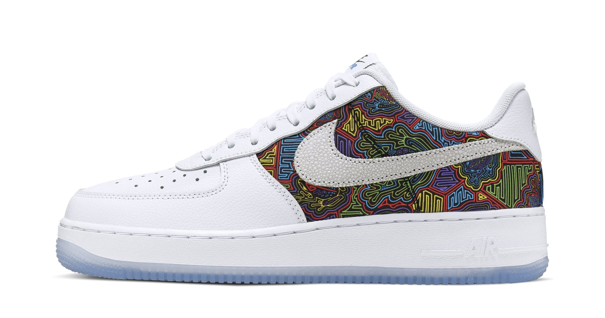 big sale b52d0 c0ad6 Nike Air Force 1 Low  Puerto Rico  2019 CJ1620-100 (Lateral)