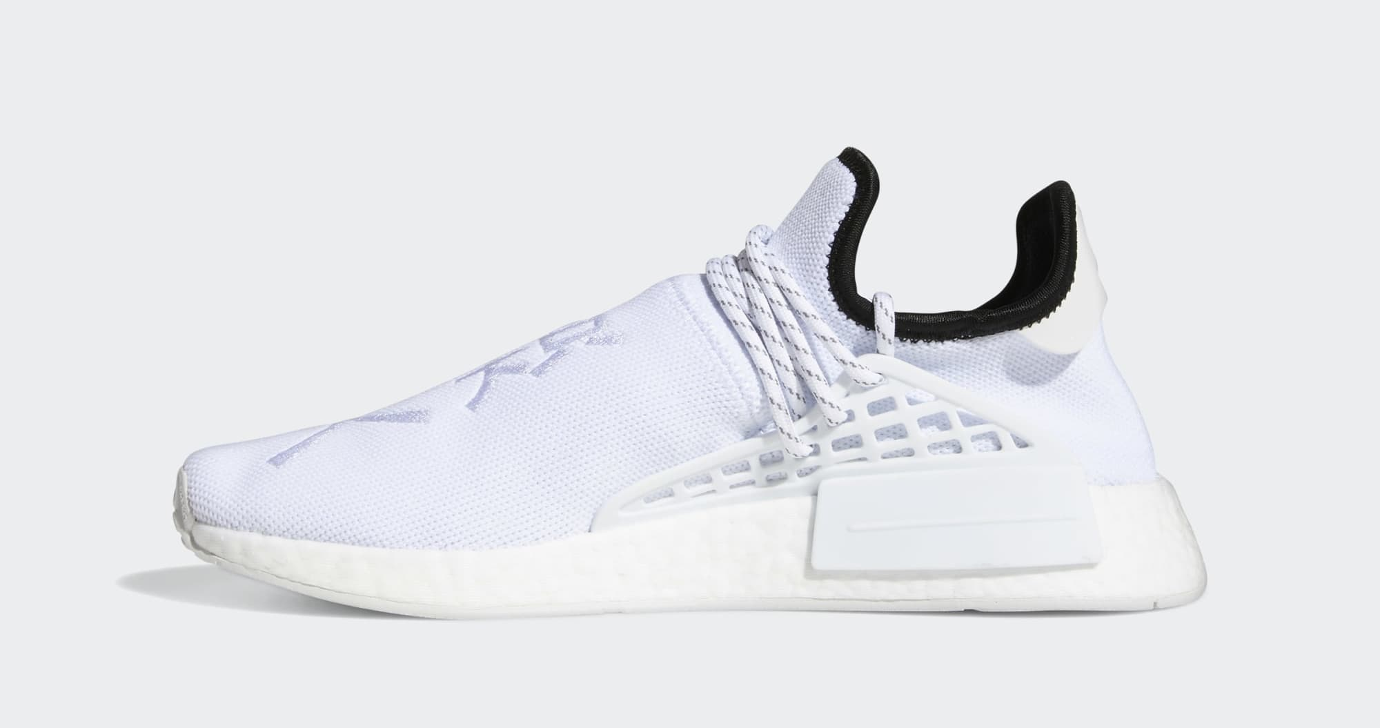 Pharrell Adidas NMD Hu White GY0092 Medial