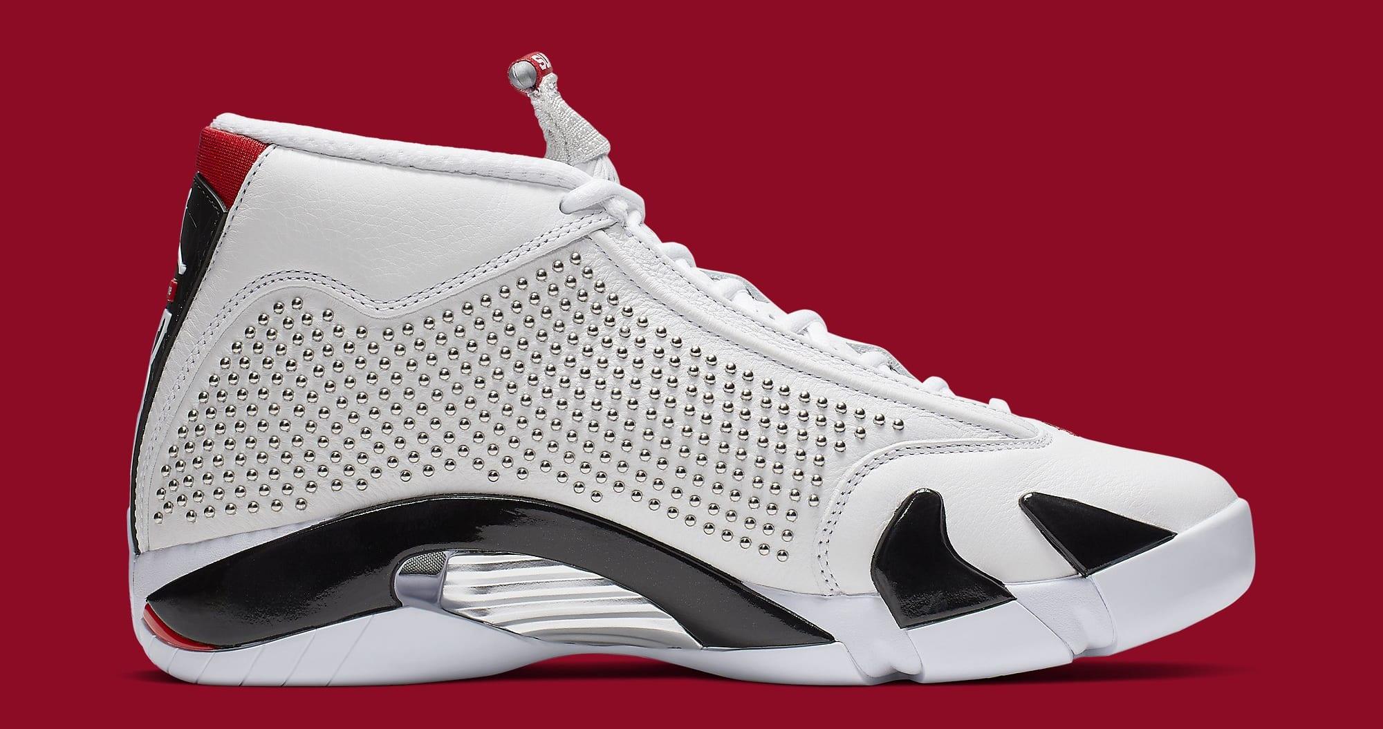 6a2aa53624e Image via Nike Supreme x Air Jordan 14 'White/University Red' BV7630-106  Medial