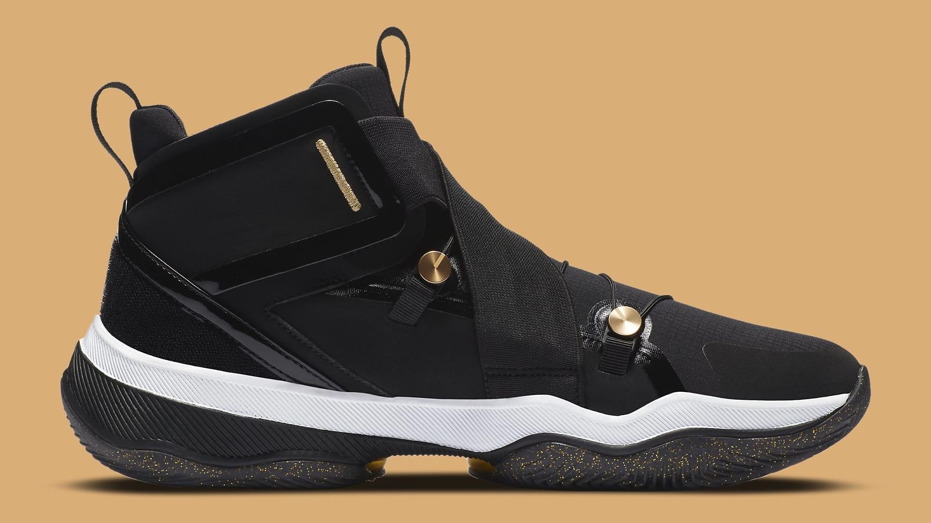 Jordan AJNT 23 Black Gold Release Date CI5441-008 Medial