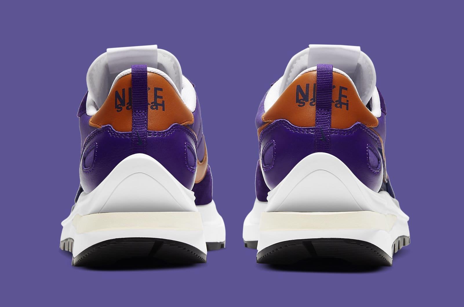 Sacai x Nike VaporWaffle 'Dark Iris' DD1875-500 Heel