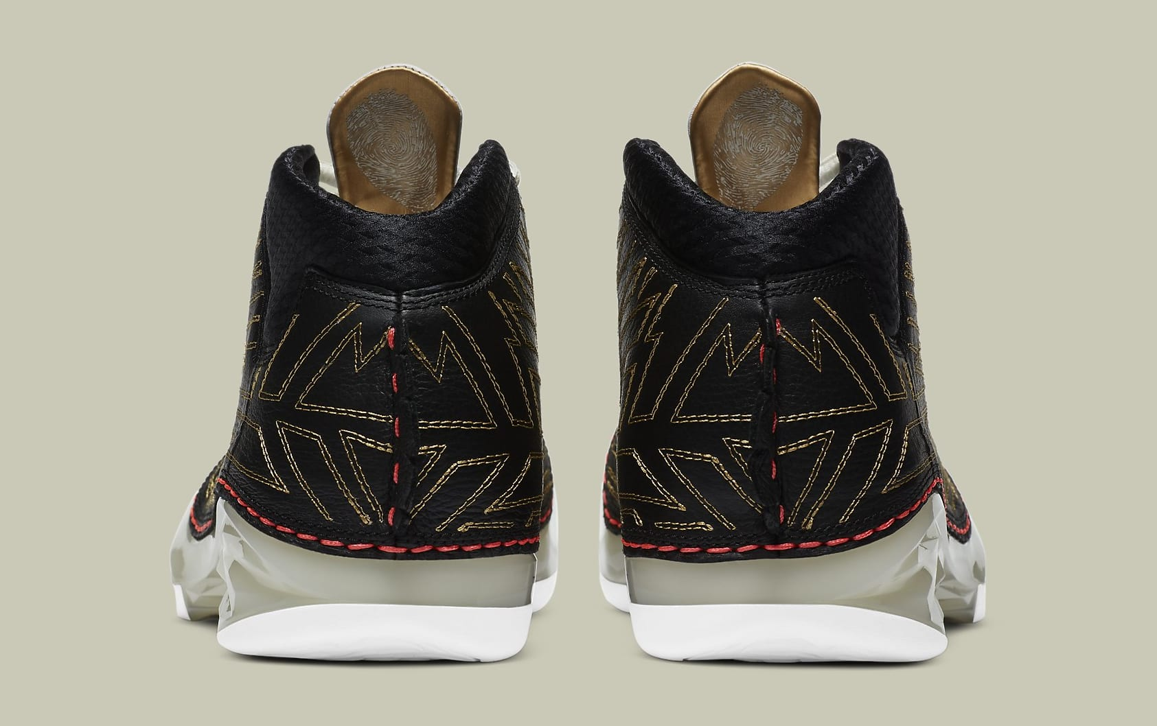 Titan x Air Jordan 23 XX3 Release Date CZ6222-001 Heel