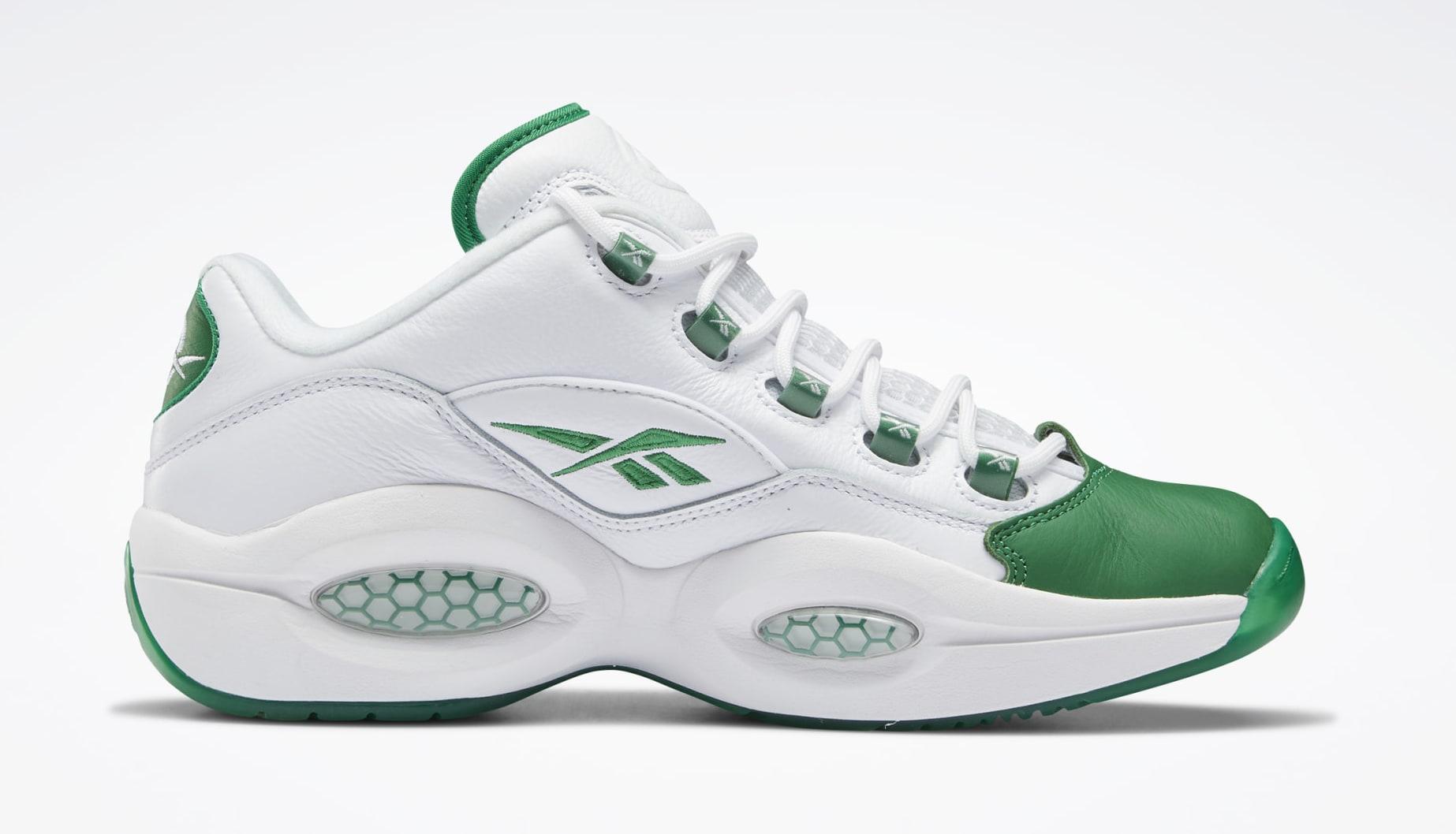 Reebok Question Low 'Green Toe' GZ0367 Medial