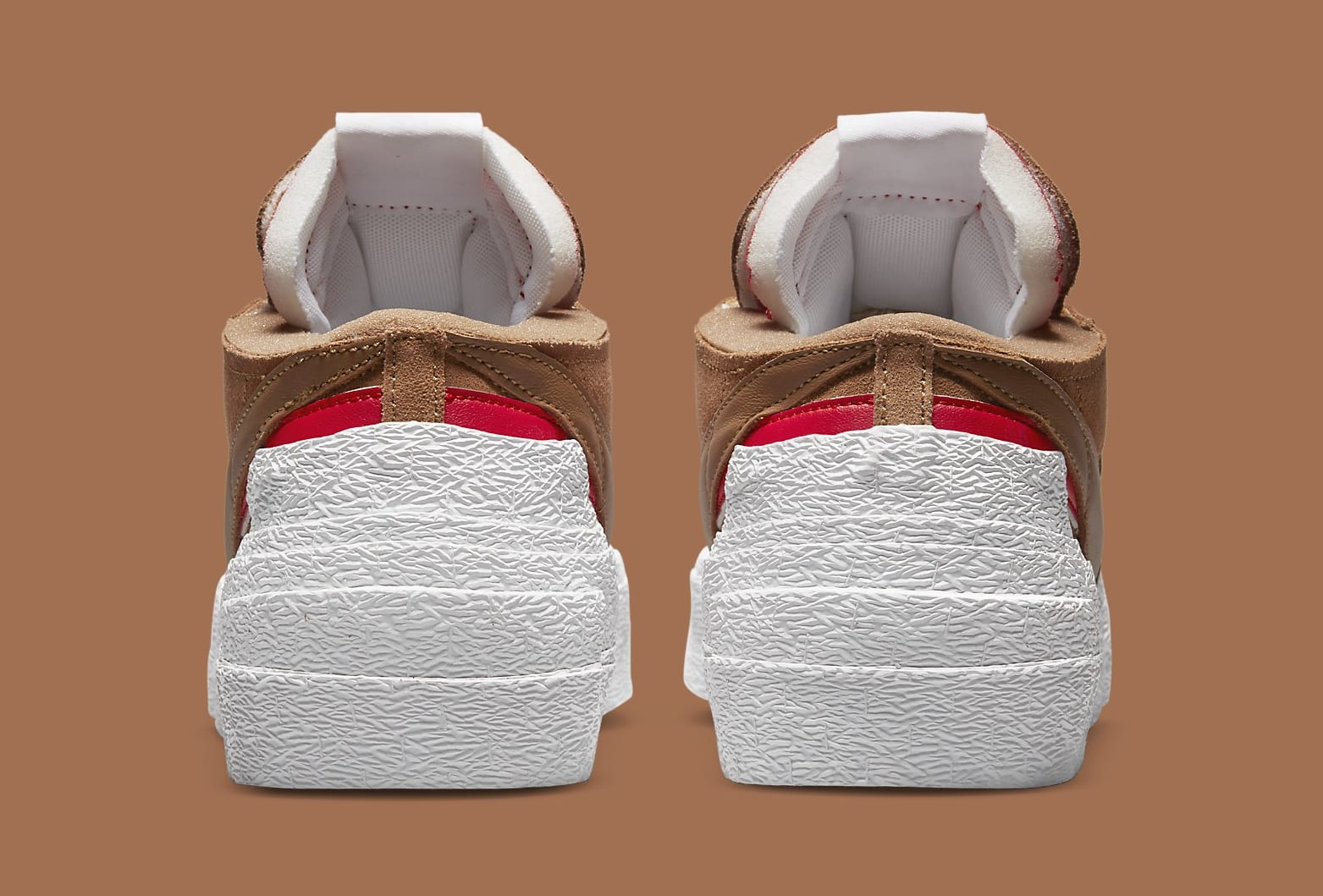 Sacai x Nike Blazer Low 'British Tan' DD1877-200 Heel