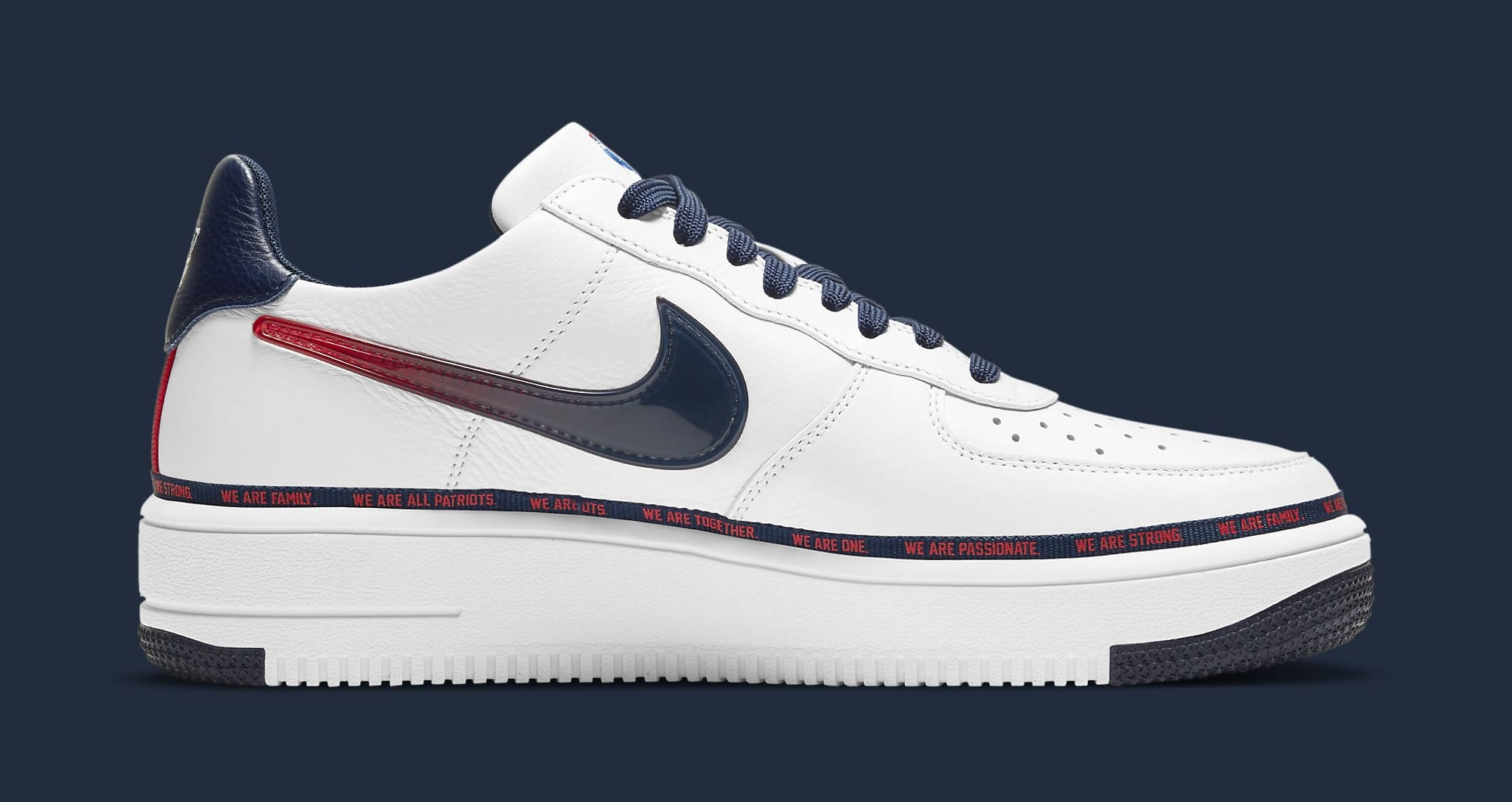 Nike Air Force 1 Ultraforce 'New England Patriots' DB6316-100 Medial