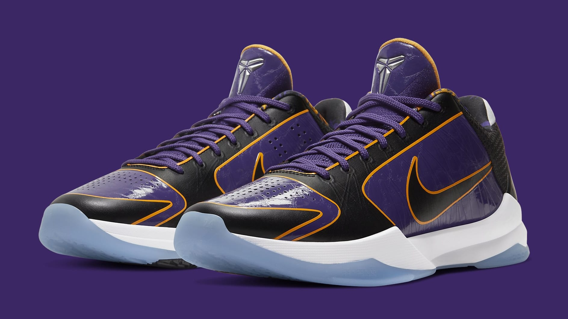 Nike Kobe 5 Protro Lakers Release Date CD4991-500 Pair