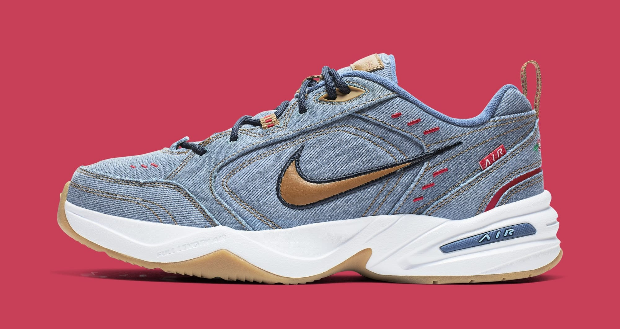 Nike Air Monarch 4 'Father's Day 2019' AV6676-400 (Lateral)