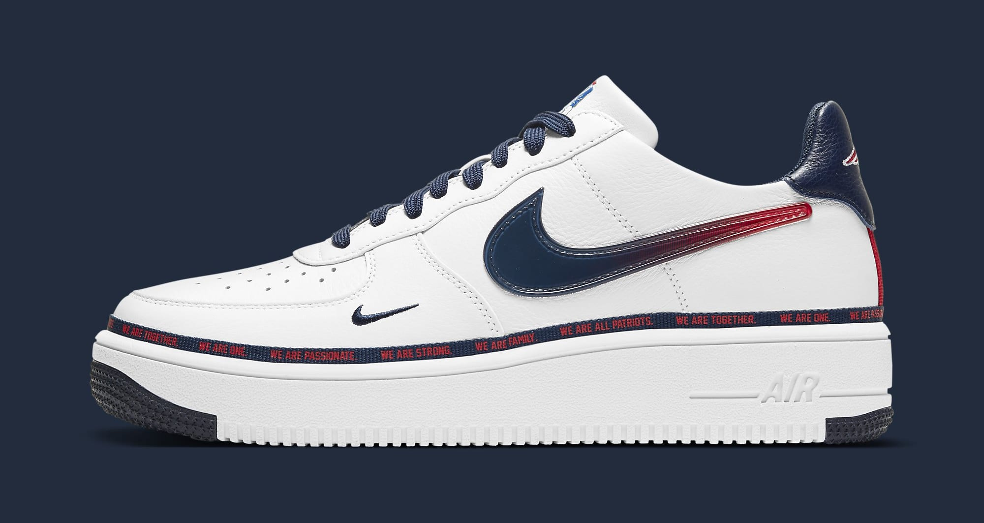 Nike Air Force 1 Ultraforce 'New England Patriots' DB6316-100 Lateral