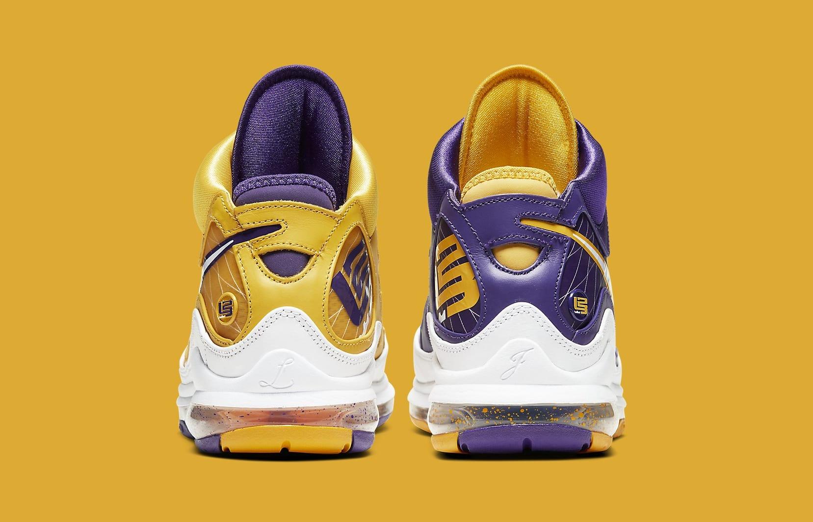 Nike LeBron 7 'Lakers' CW2300-500 Heel