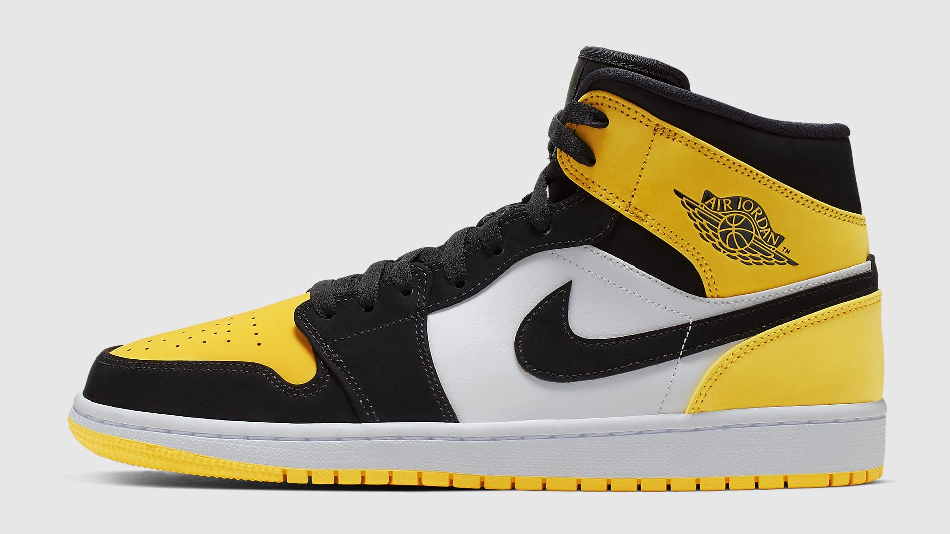 Air Jordan 1 Mid Yellow Toe Release Date 852542-071 Profile