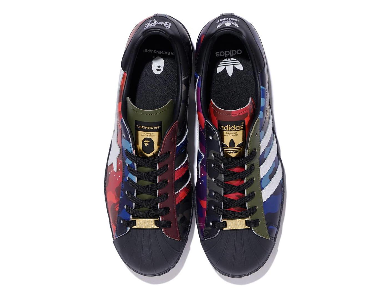 Bape x Adidas Originals Superstar 'Color Camo' Top