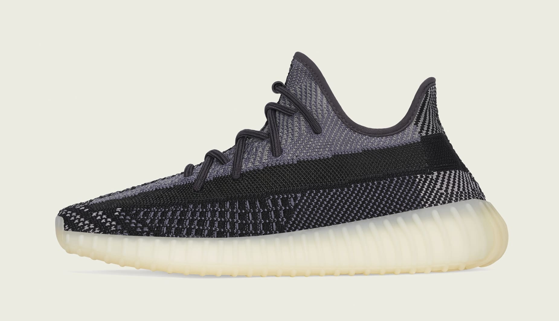 Adidas Yeezy boost 350 V2 'Carbon' FZ5000 Lateral