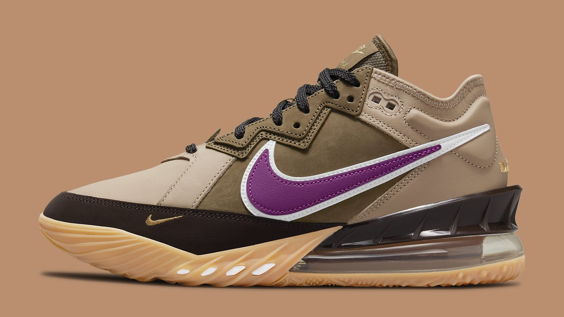 Atmos x Nike LeBron 18 Low 'Viotech' CW5635-200 Lateral
