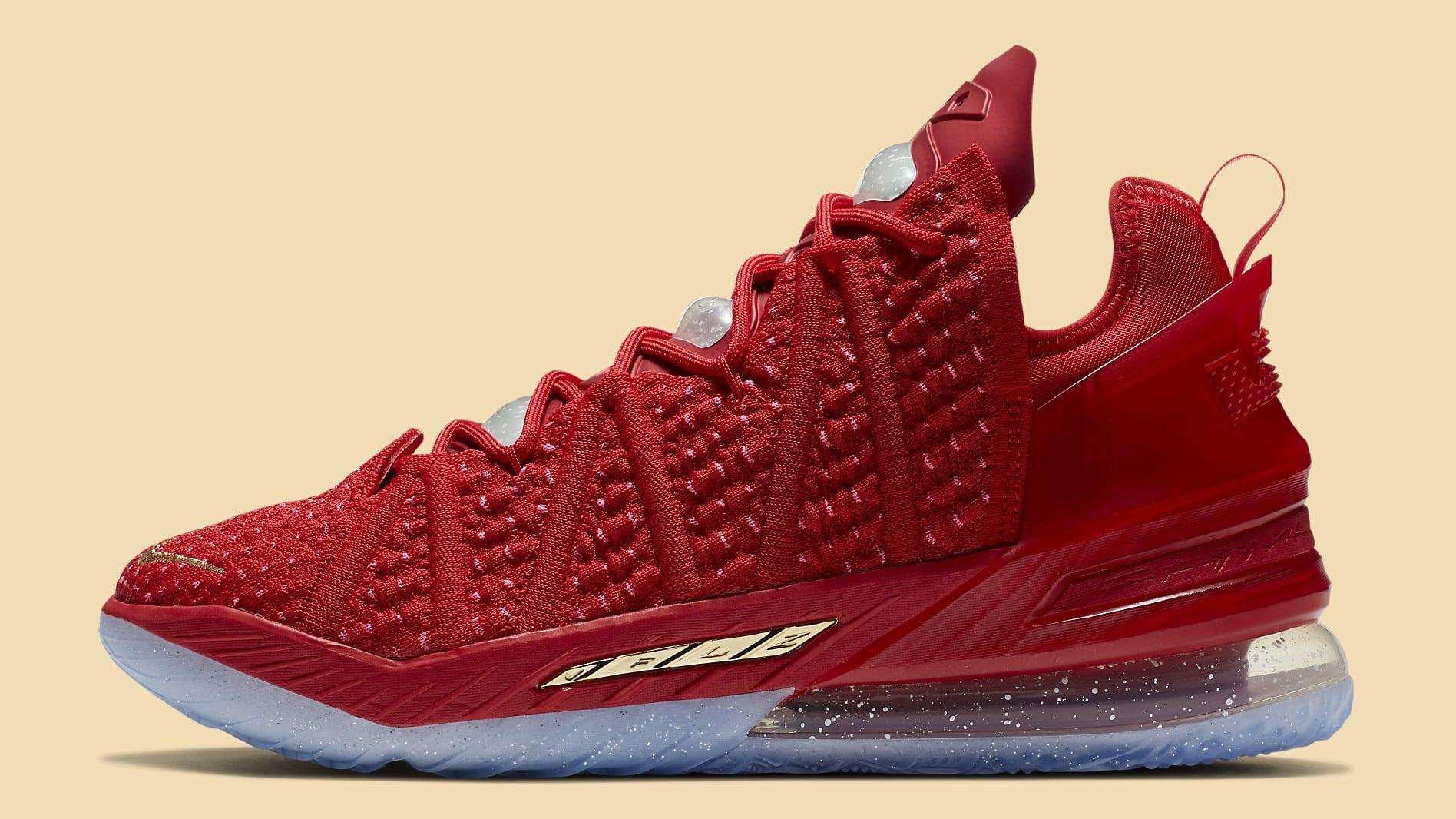 Nike LeBron 18 X-Mas in LA Release Date DB8148-601 Profile