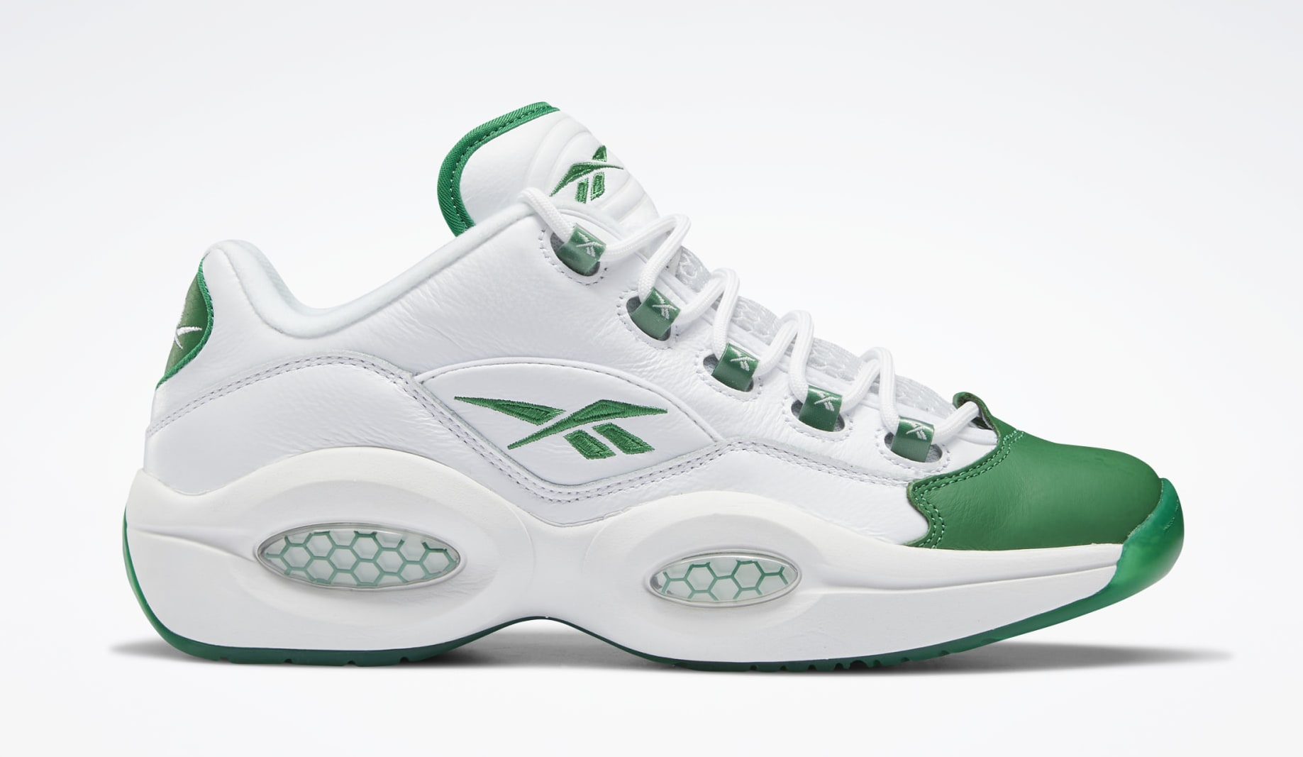Reebok Question Low 'Green Toe' GZ0367 Lateral