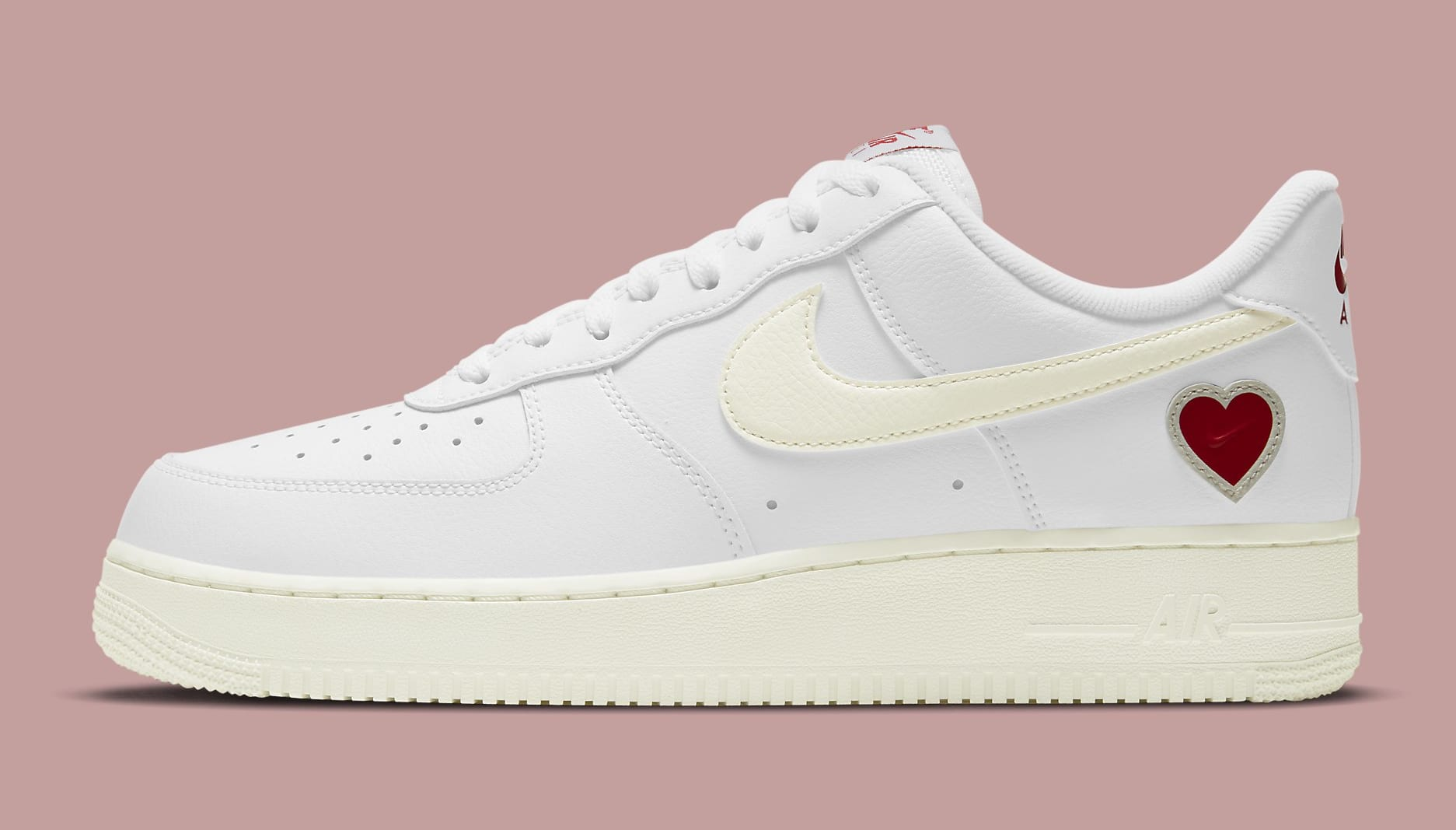 Nike Air Force 1 Low Valentine's Day 2021 Release Date DD7117-100 Profile