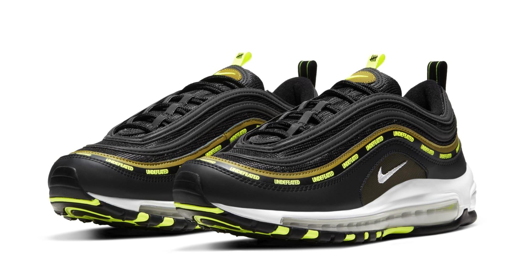 Undefeated x Nike Air Max 97 'Black/Volt' DC4830-001 (Pair)