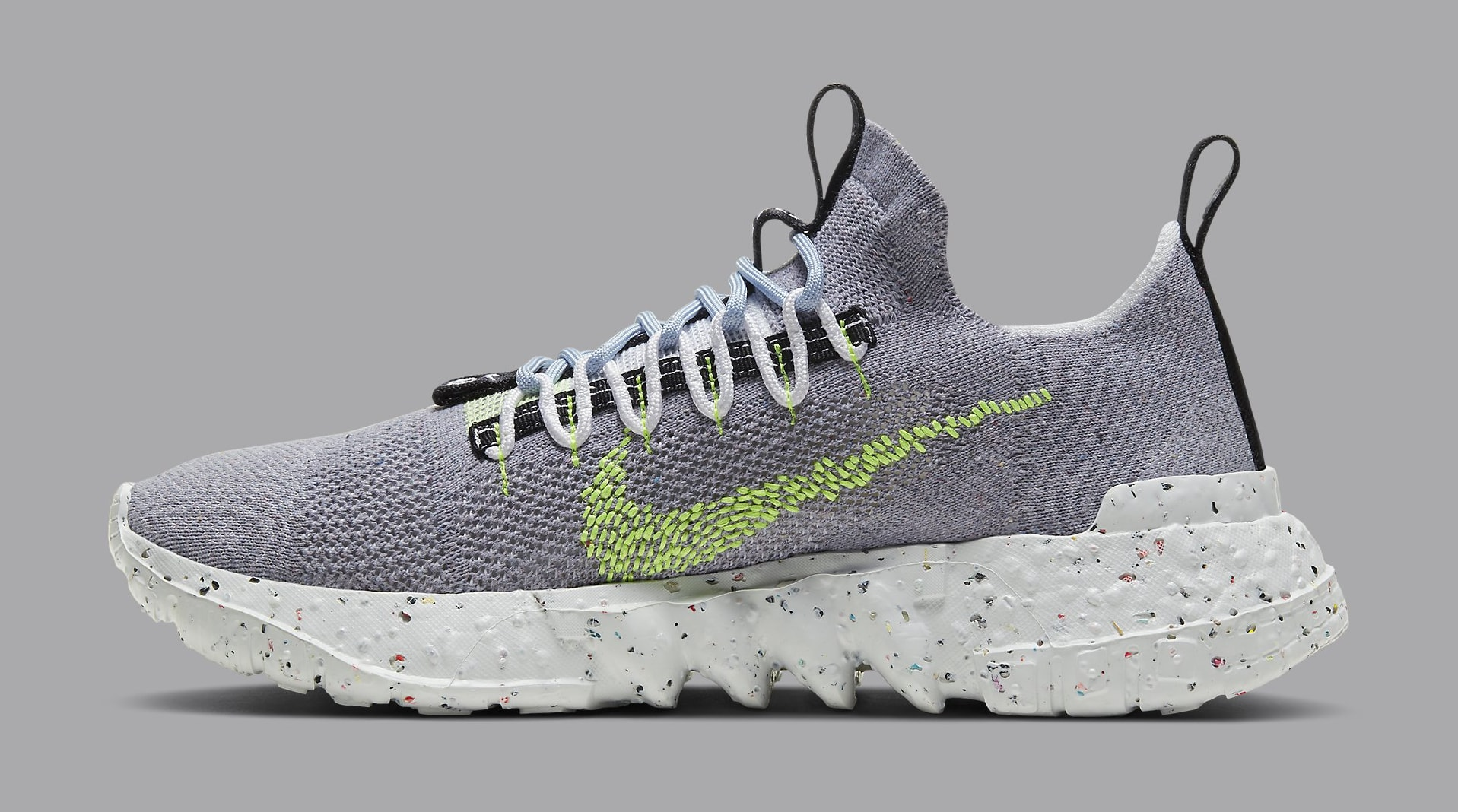 Nike Space Hippie 01 'Grey/Volt' CQ3986-002 Lateral