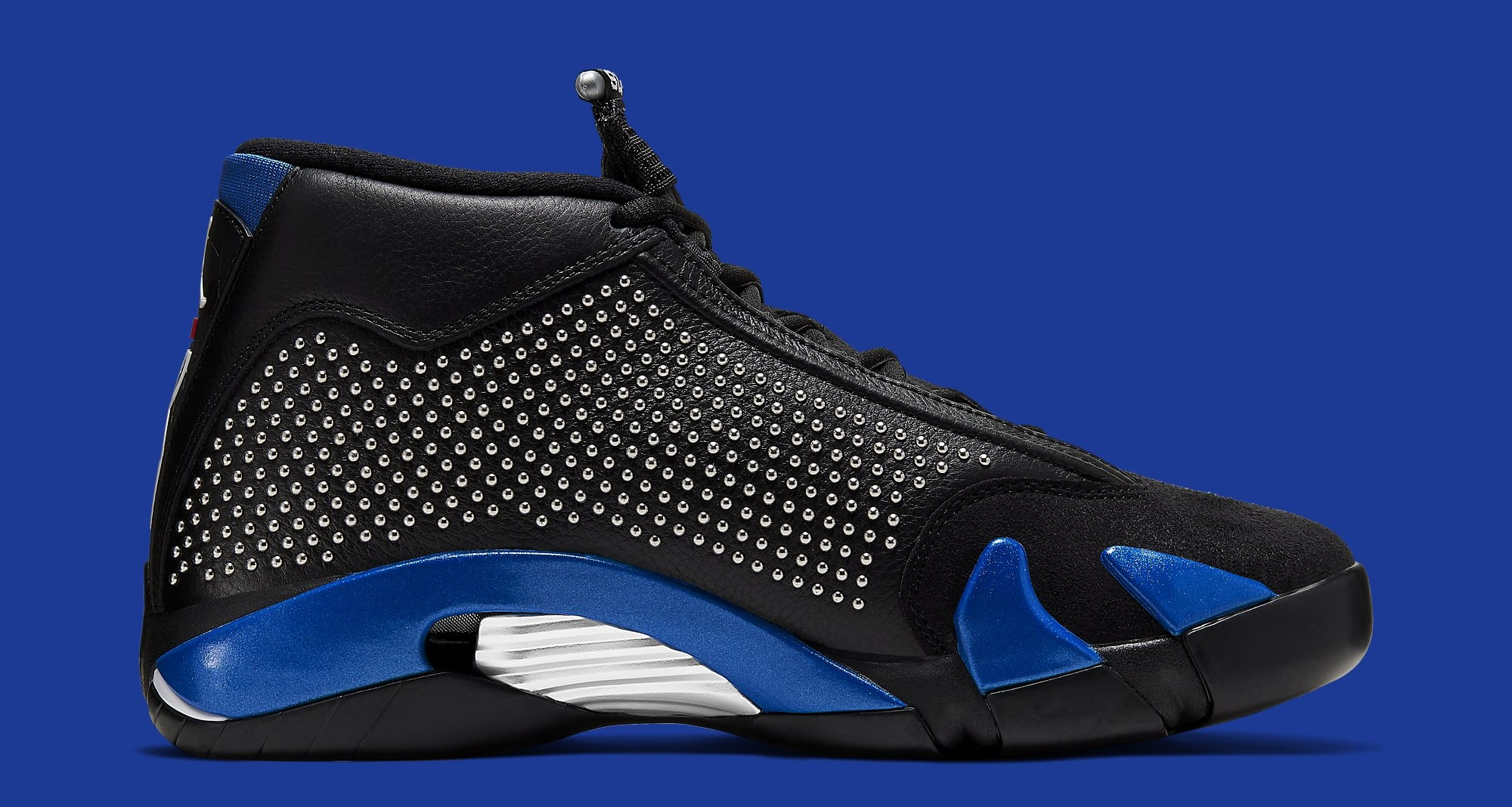 Supreme x Air Jordan 14 'Black/Game Royal' BV7630-004 Medial