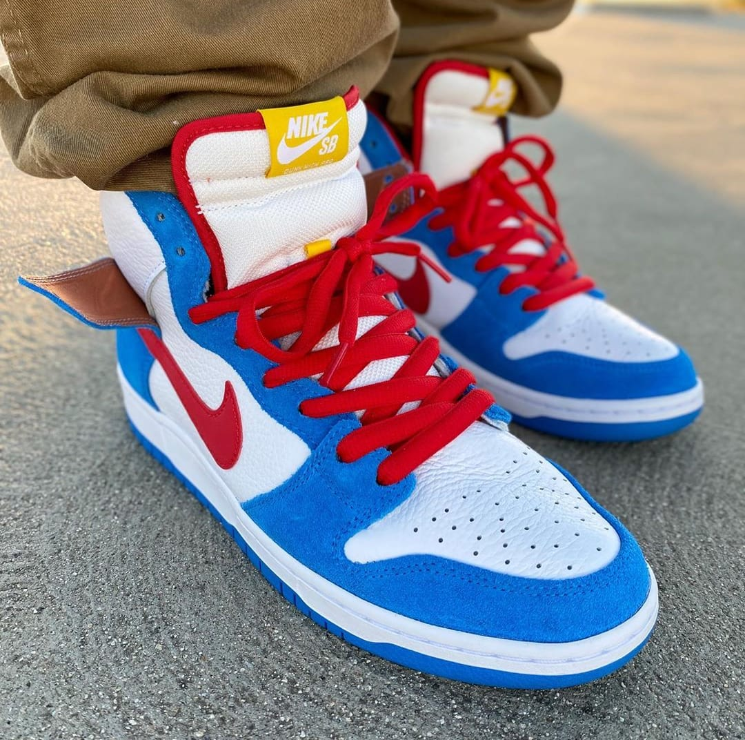 Nike SB Dunk High 'Doraemon' On-Feet