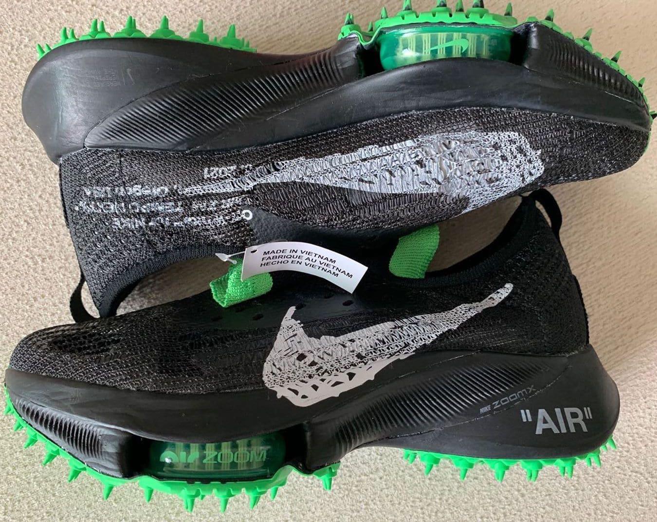 Off-White x Nike Air Zoom Tempo Next% FK Side