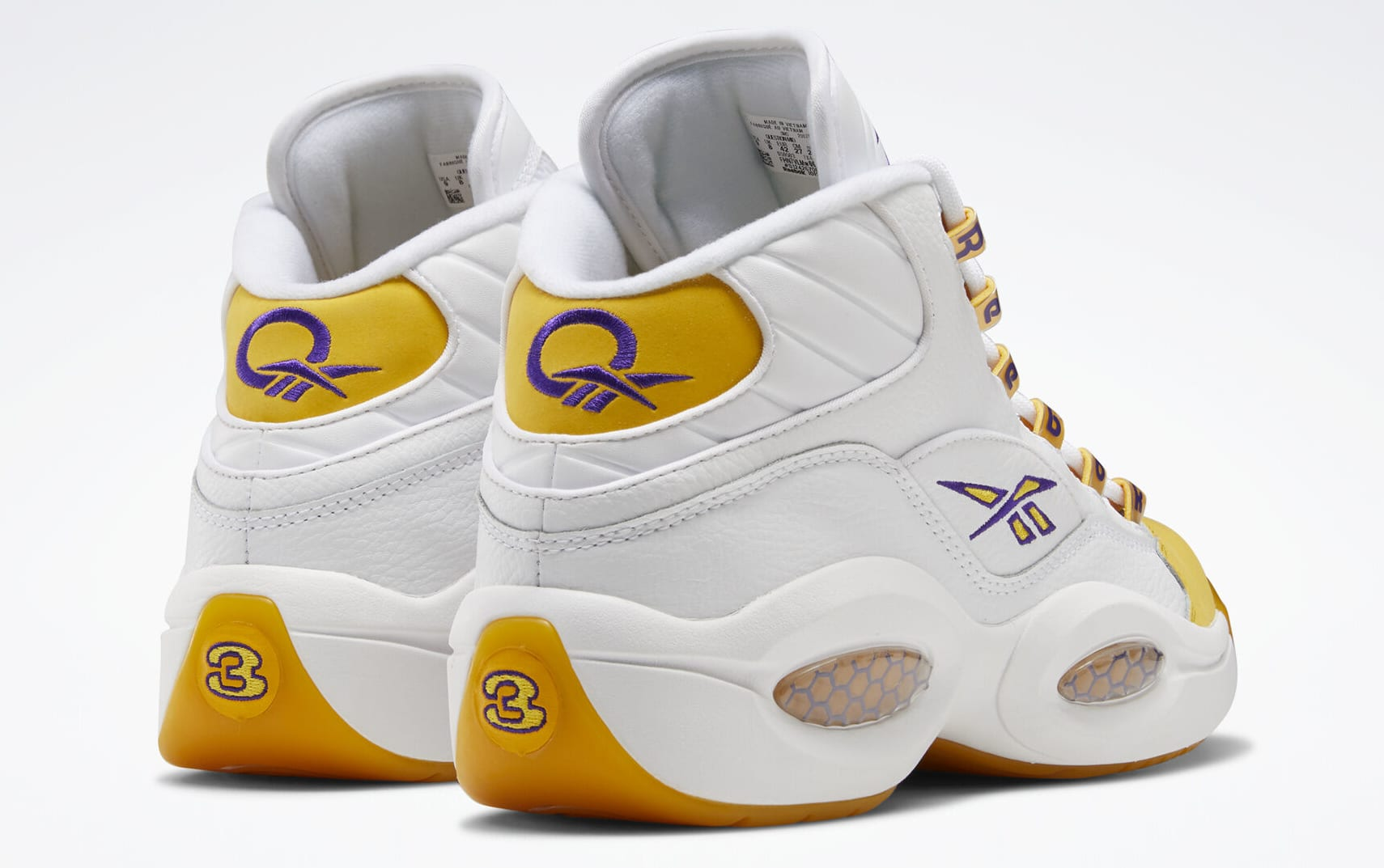 Reebok Question Kobe Yellow Toe Release Date Pair Back