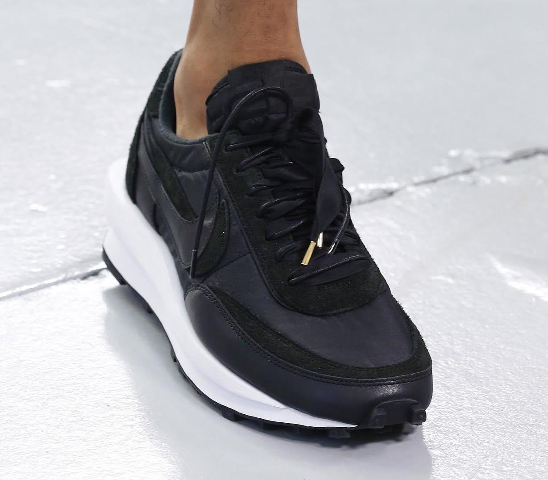 Unreleased Sacai x Nike LDWaffle Black Paris Fashion Week Men's 2019