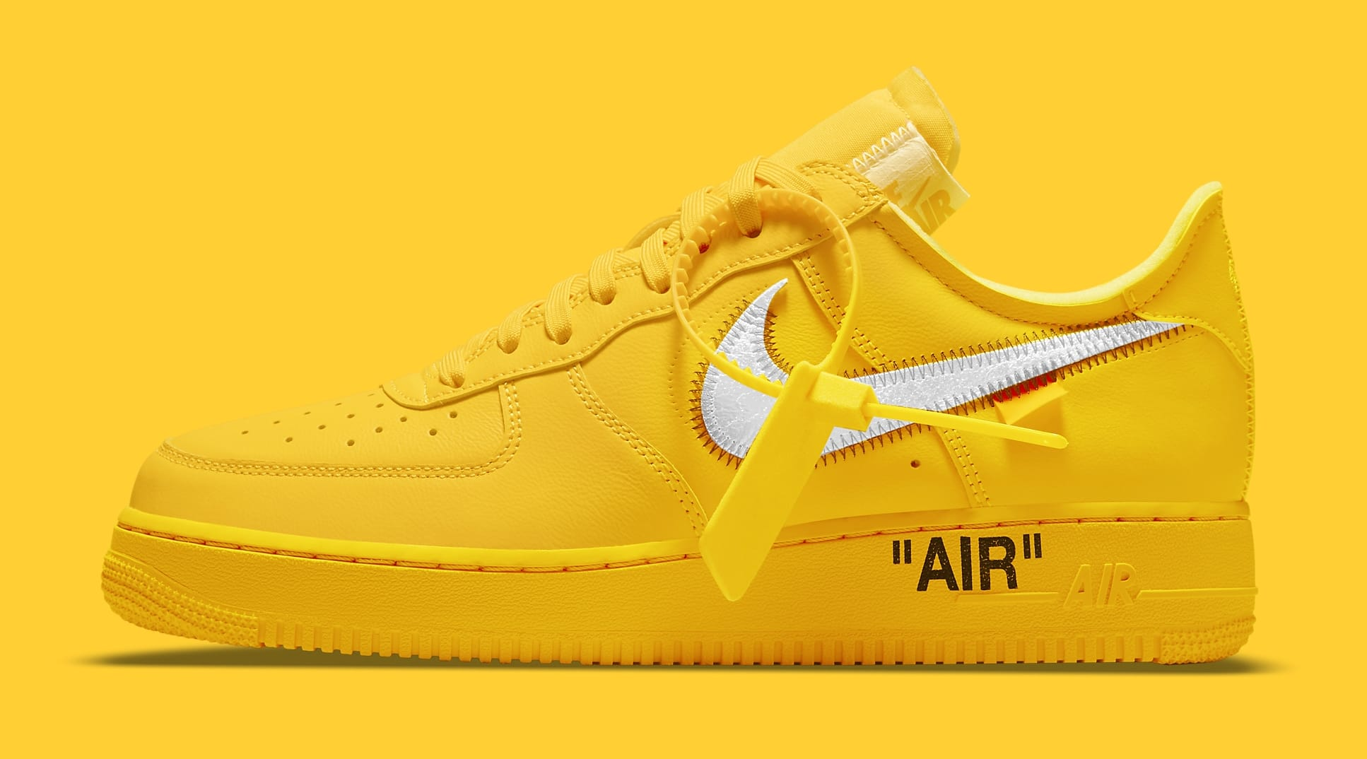 Off-White x Nike Air Force 1 Low 'Lemonade' DD1876-700 Lateral