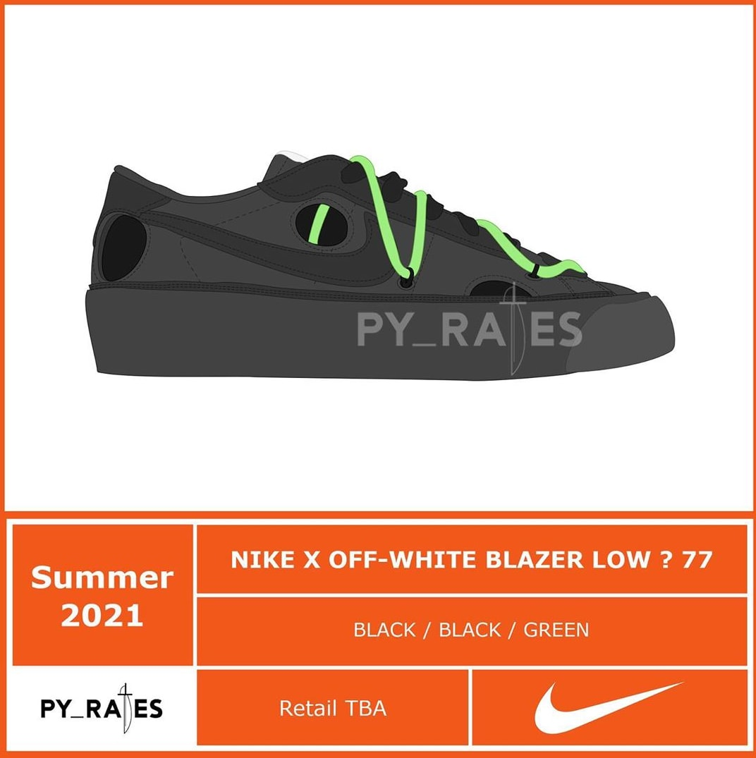 Off-White x Nike Blazer Low Summer 2021 Mock-Up