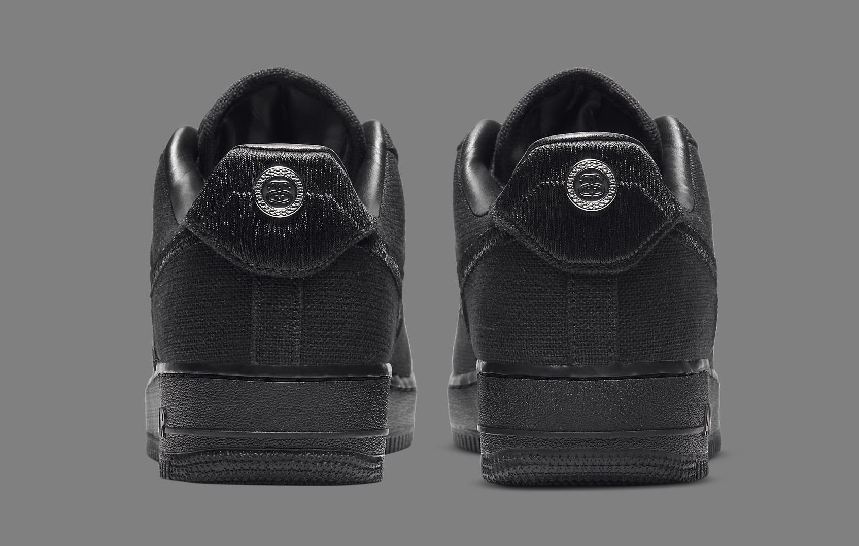 Stussy x Nike Air Force 1 Low 'Black' CZ9084-001 Heel