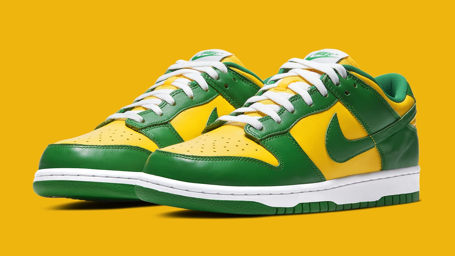 Nike Dunk Low 'Brazil' 2020 CU1727-700 Pair