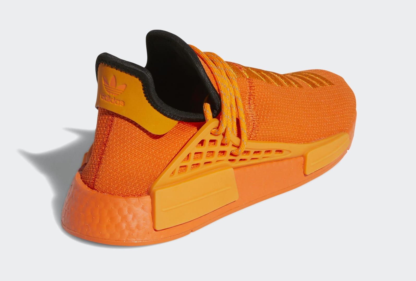 Pharrell x Adidas NMD Hu Orange GY0095 Heel