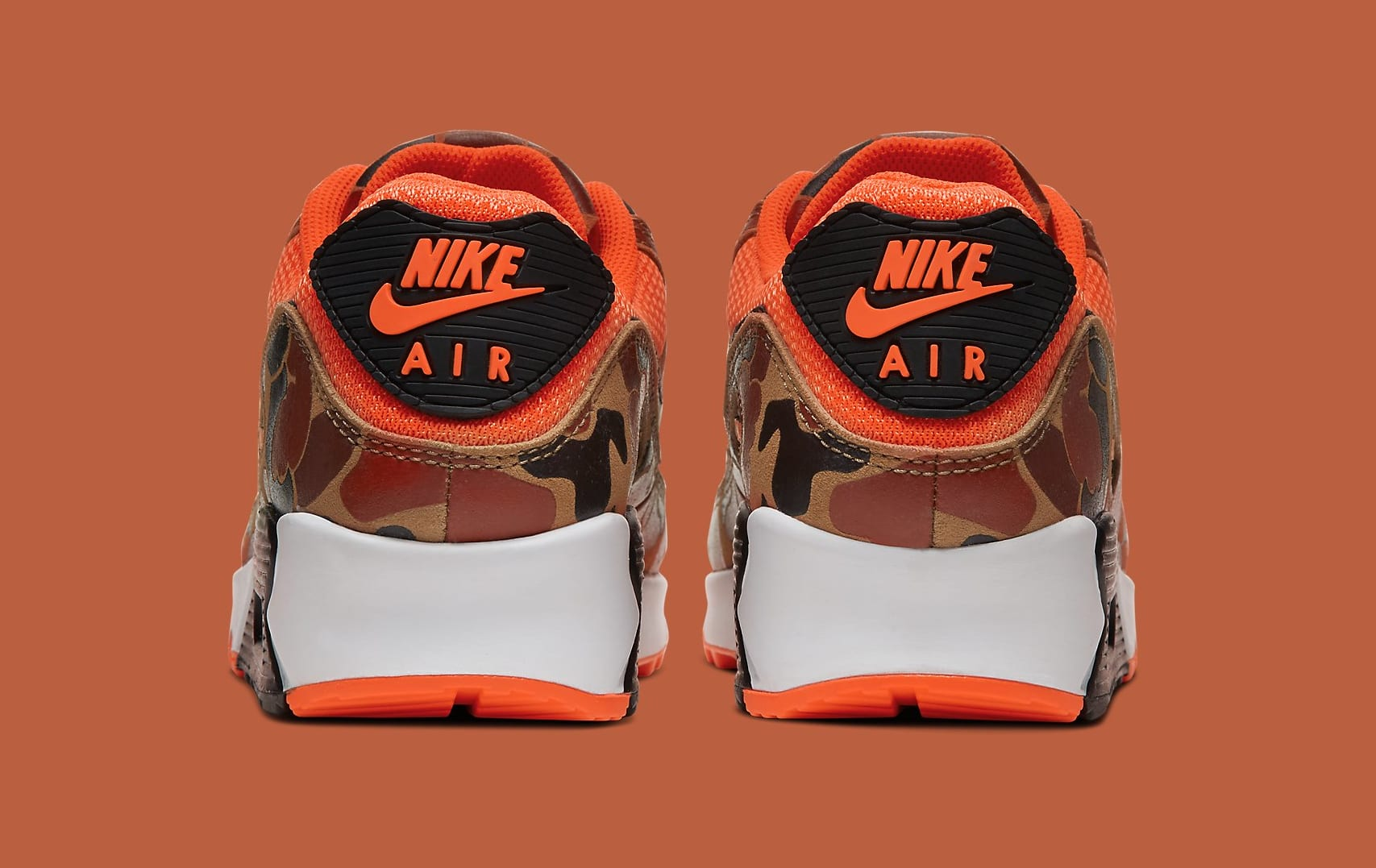 Nike Air Max 90 'Orange Camo' CW4039-800 Heel