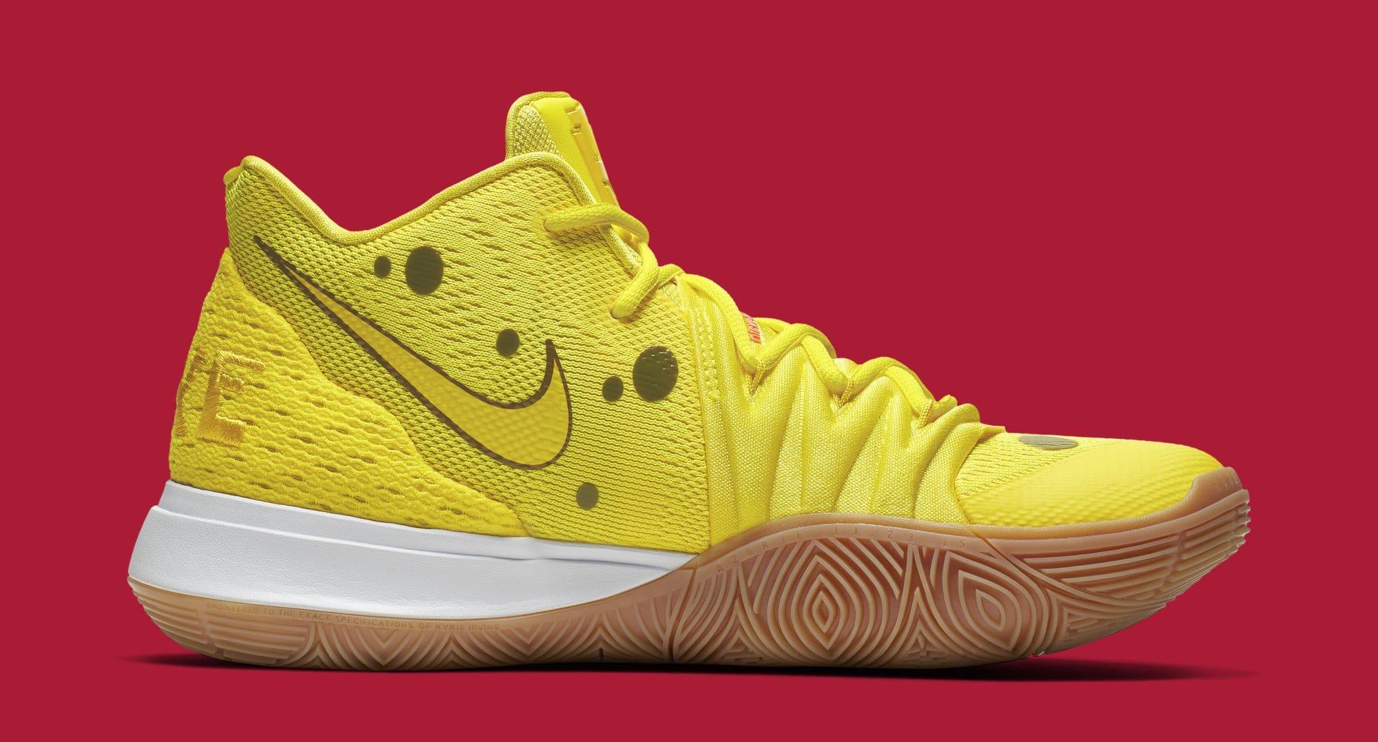 'SpongeBob SquarePants' x Nike Kyrie 5 'SpongeBob' CJ6951-700 (Medial)