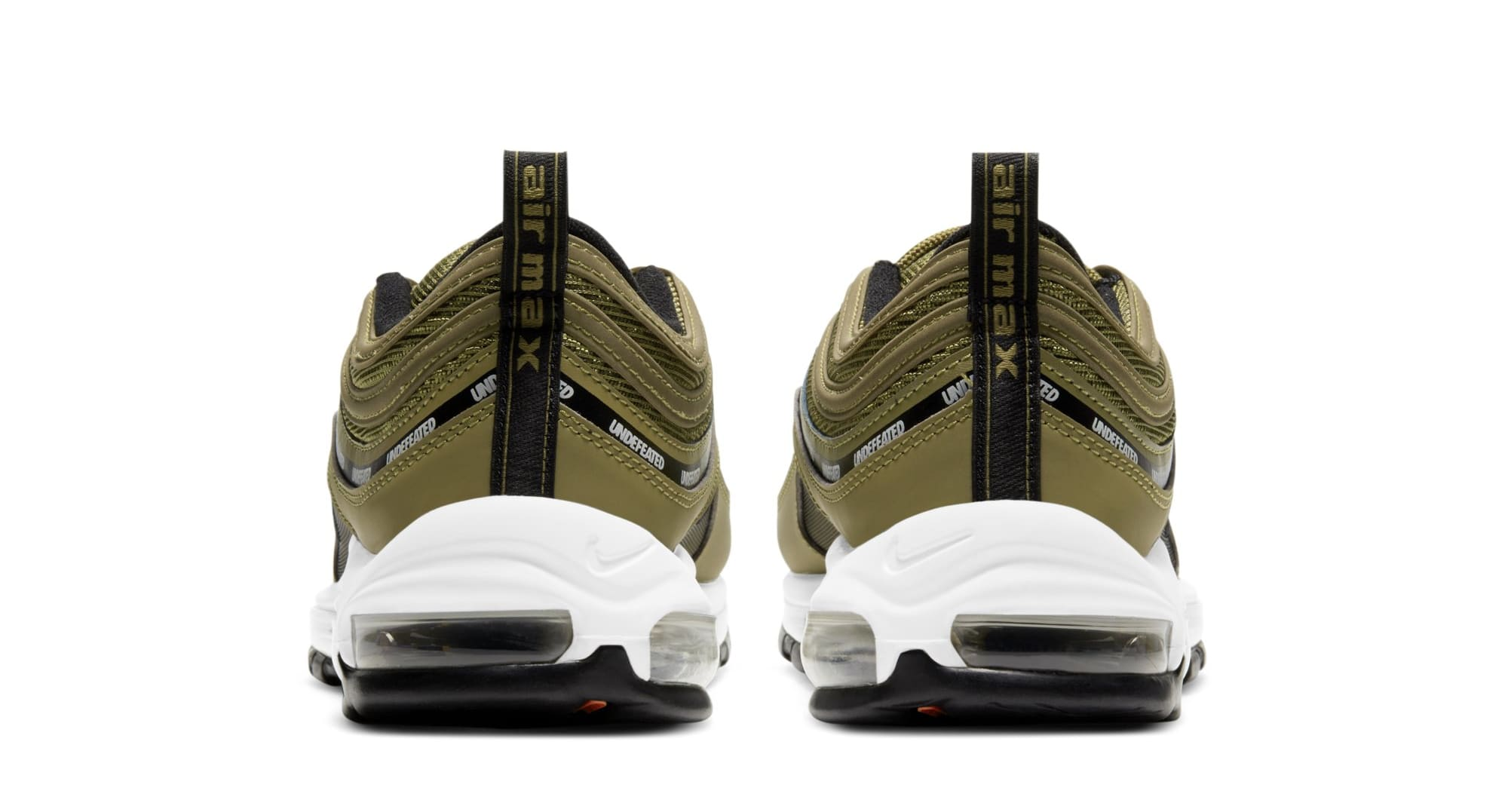 Undefeated x Nike Air Max 97 'Militia Green' DC4830-300 (Heel)