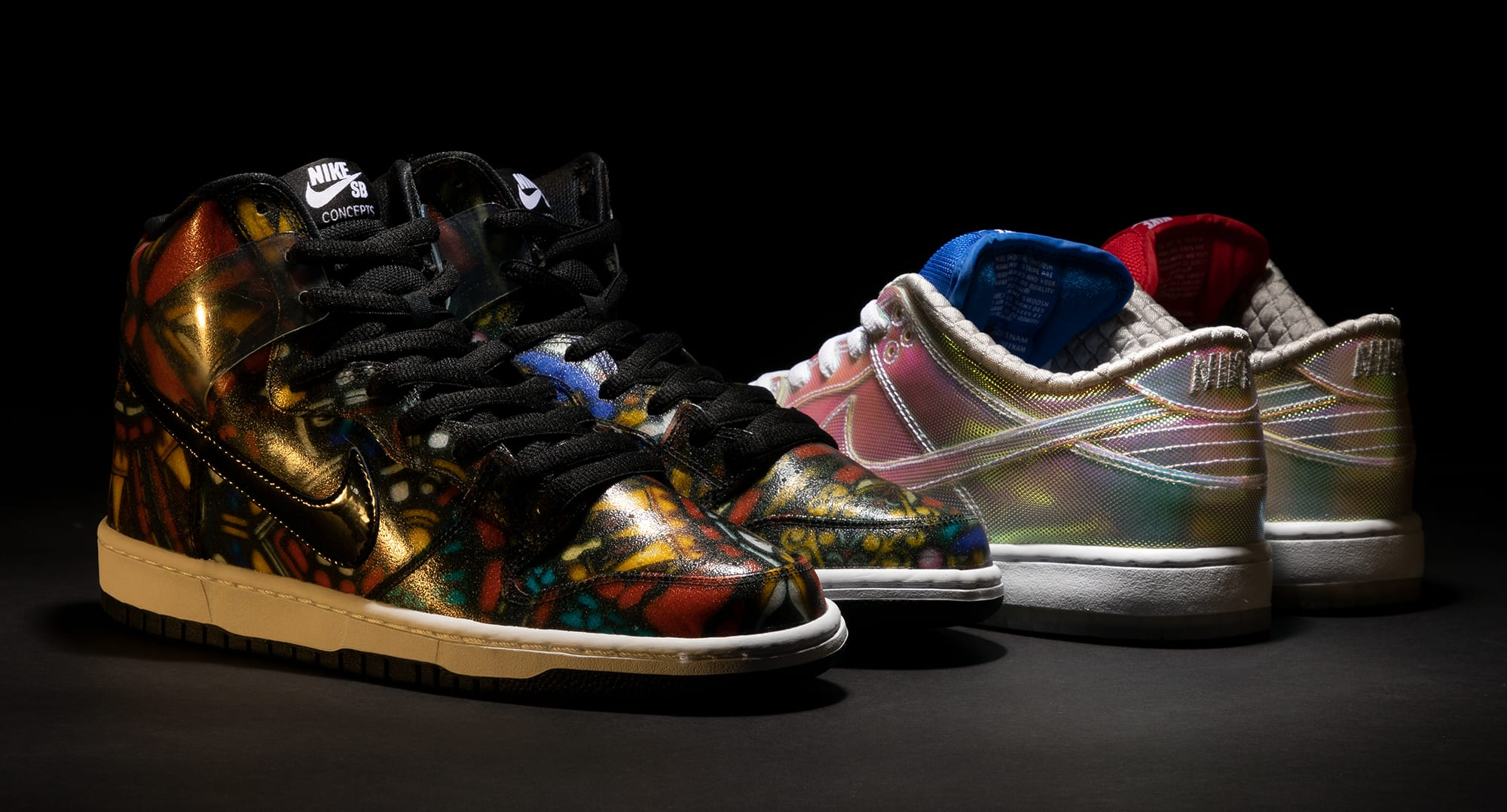 Concepts x Nike SB Dunk Low 'Holy Grail' SB Dunk High 'Stained Glass'