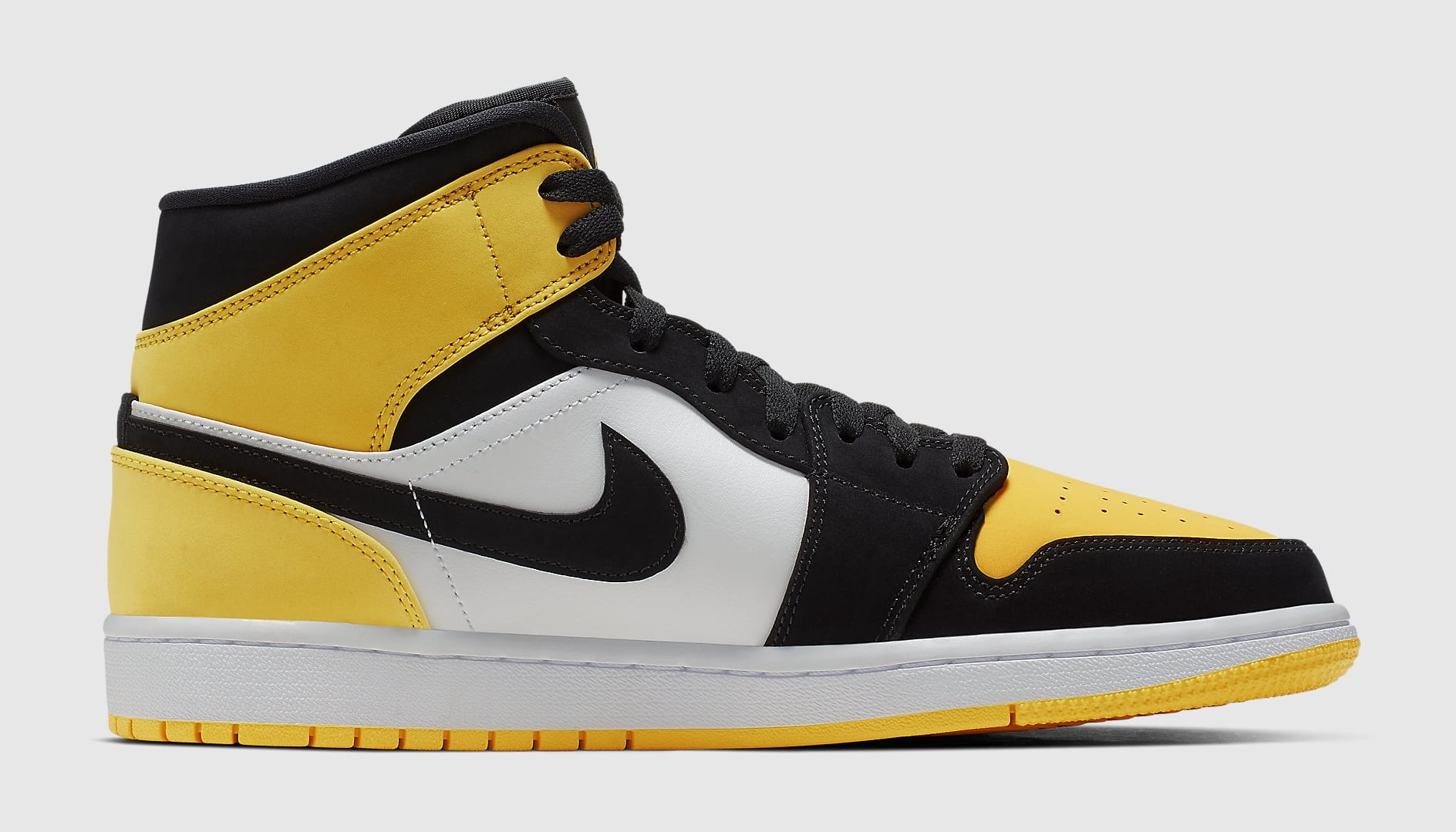 Air Jordan 1 Mid Yellow Toe Release Date 852542-071 Medial