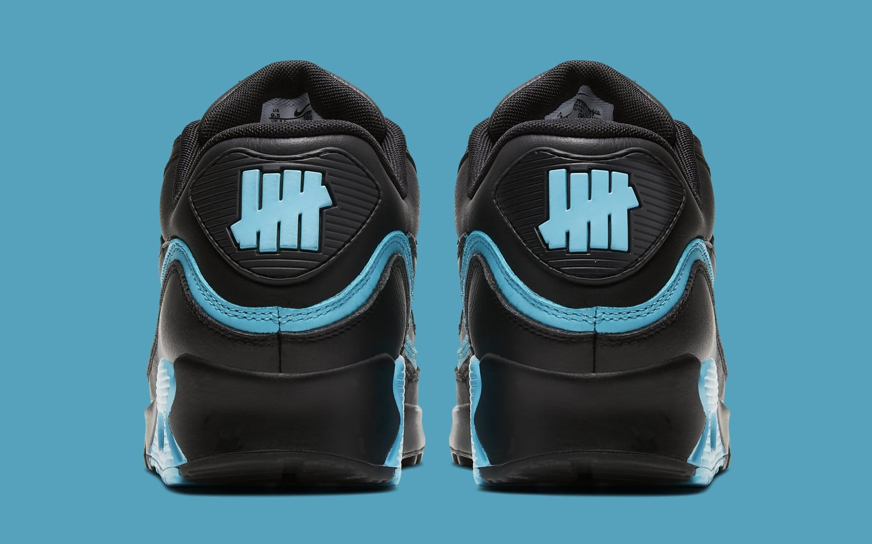 undefeated-nike-air-max-90-black-blue-fury-cj7197-002-heel